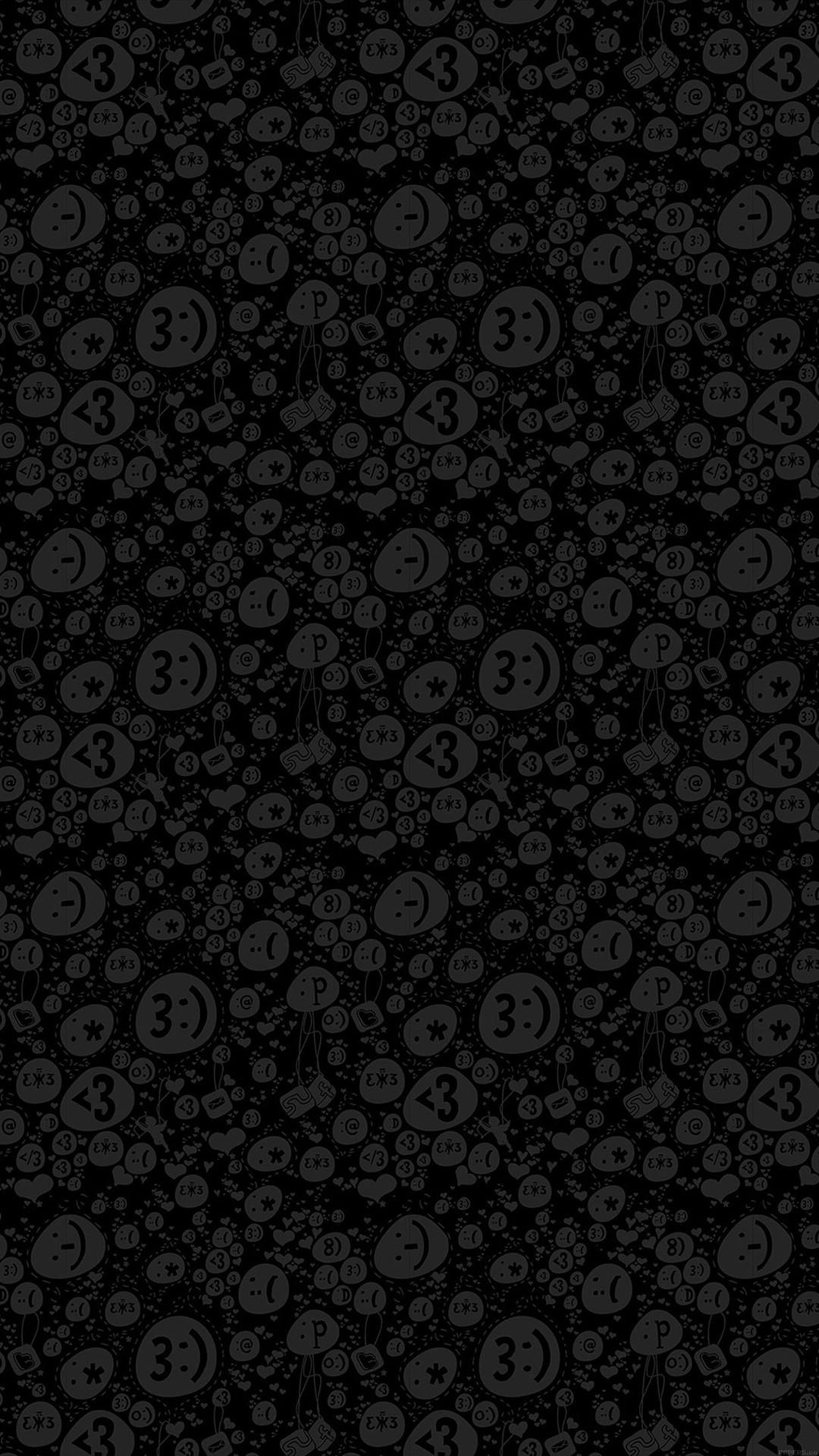 black.quenalbertini: Emoticon Charms Pattern iPhone 6 Plus Wallpaper