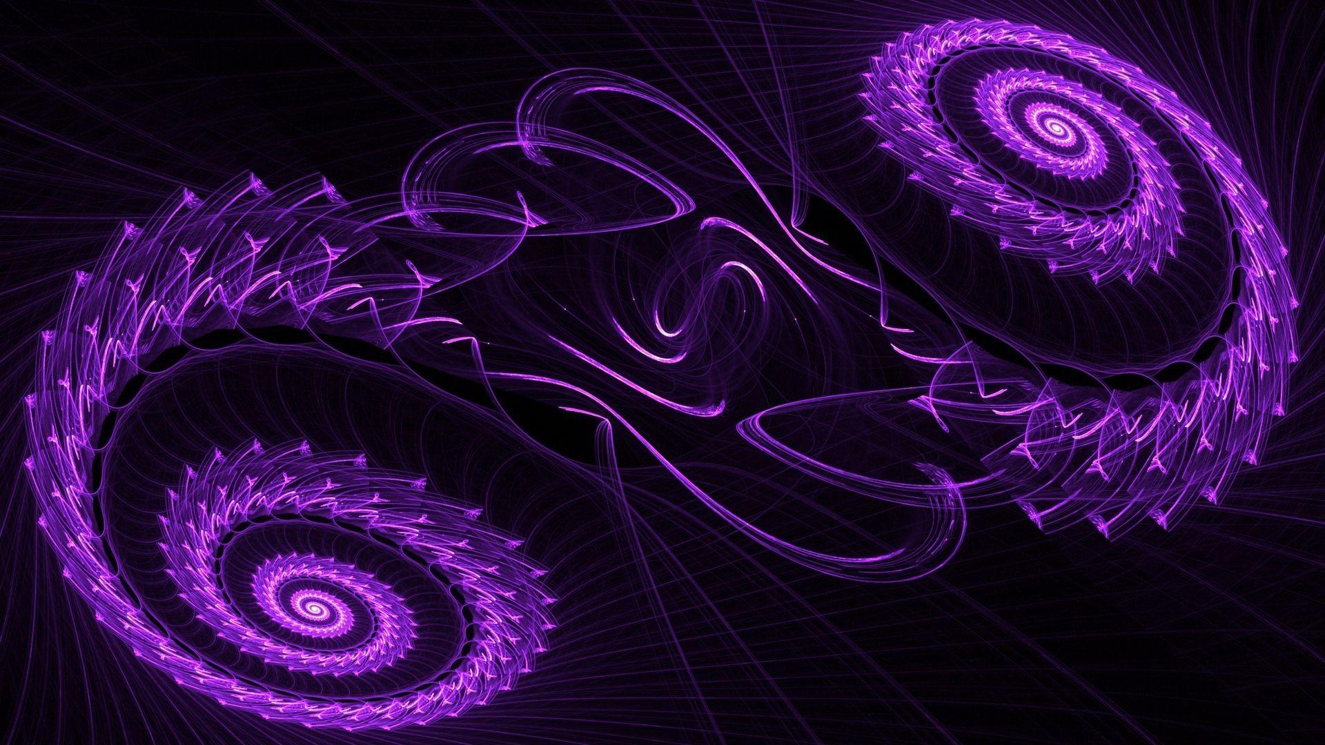Purple swirls HD Wallpaper 1920×1080