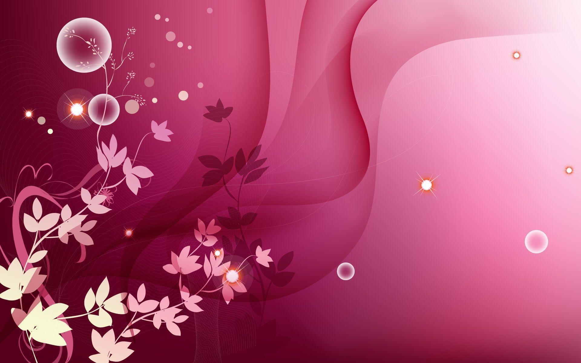 Swirls Pink Purple Leaves Wallpaper and Stock Photo