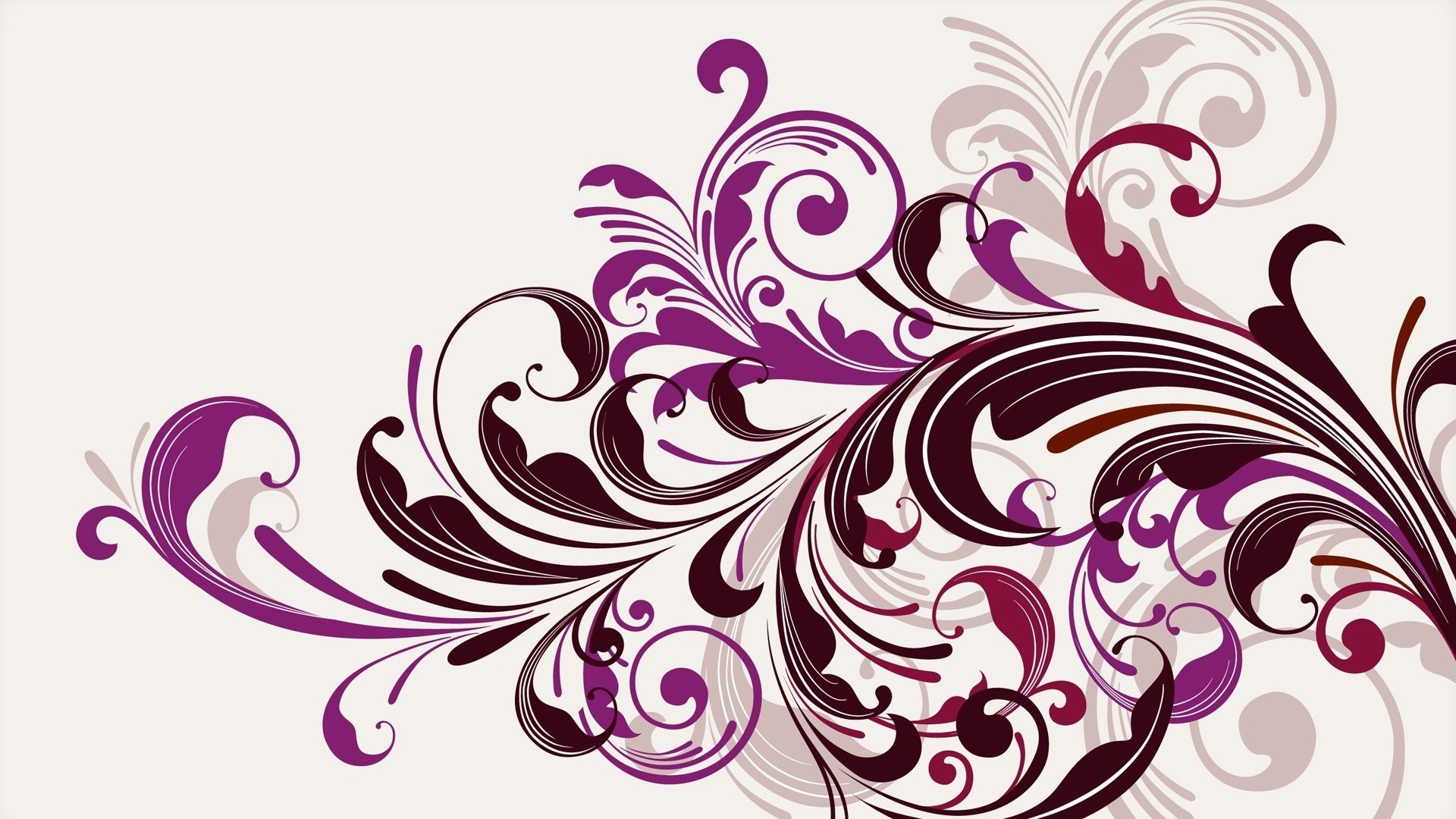 Purple Floral Swirls Vector Wallpapers HD / Desktop and Mobile Backgrounds