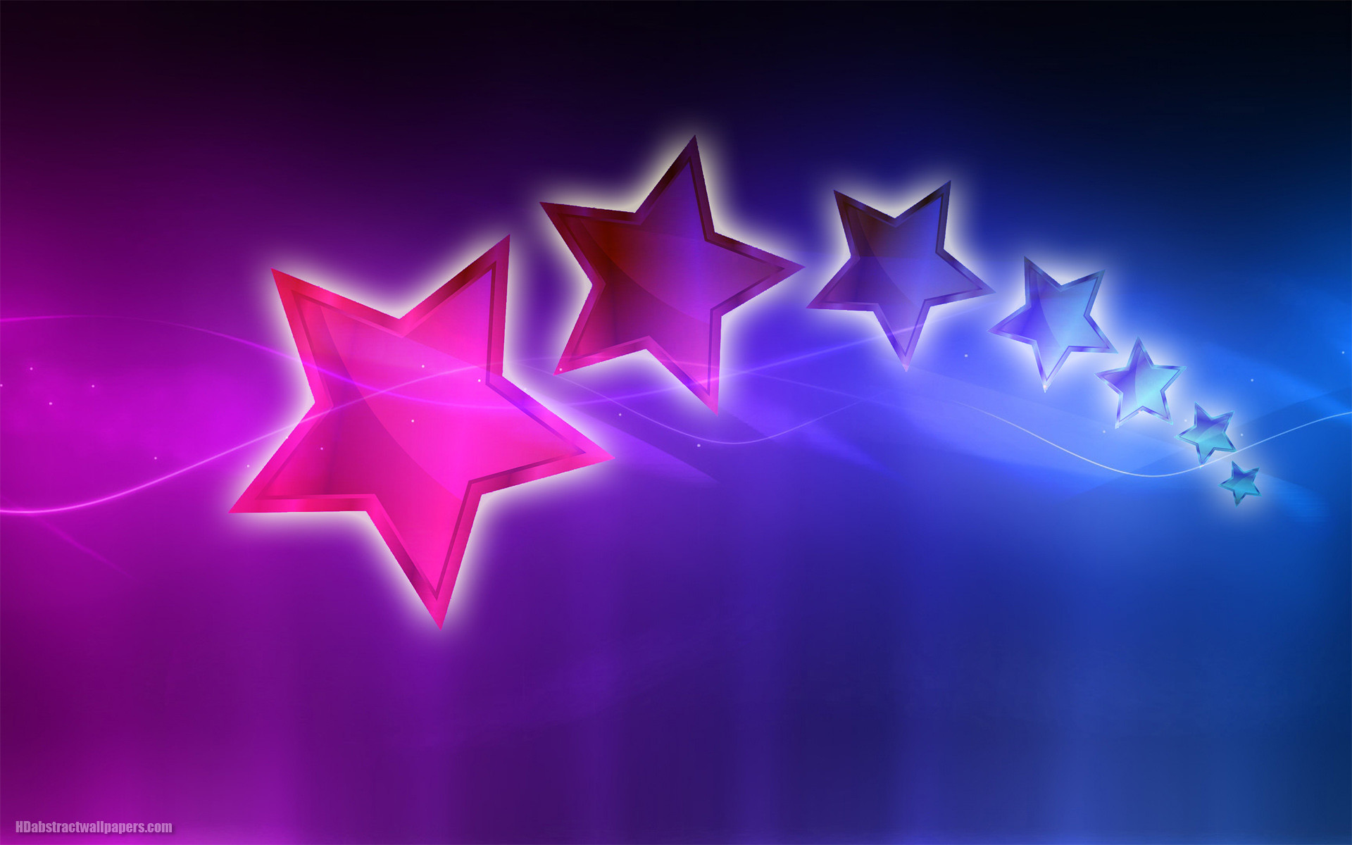 Beautiful purple, pink and blue abstract wallpaper with stars