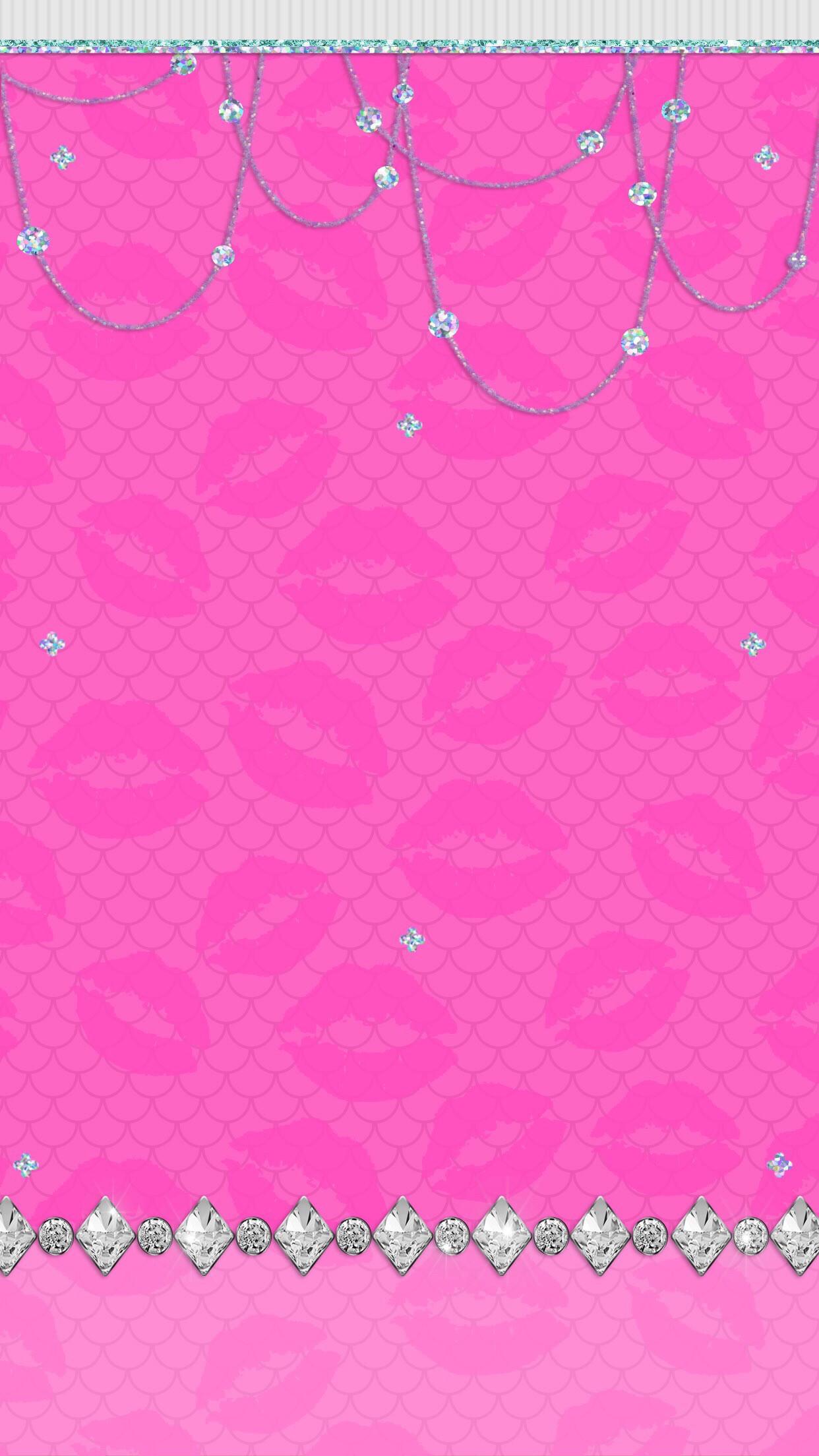 Glitter Wallpaper, Pink Wallpaper, Mobile Wallpaper, Wallpaper Backgrounds,  Phone Wallpapers, Iphone 2, Valentines Day, Kawaii, Mermaids