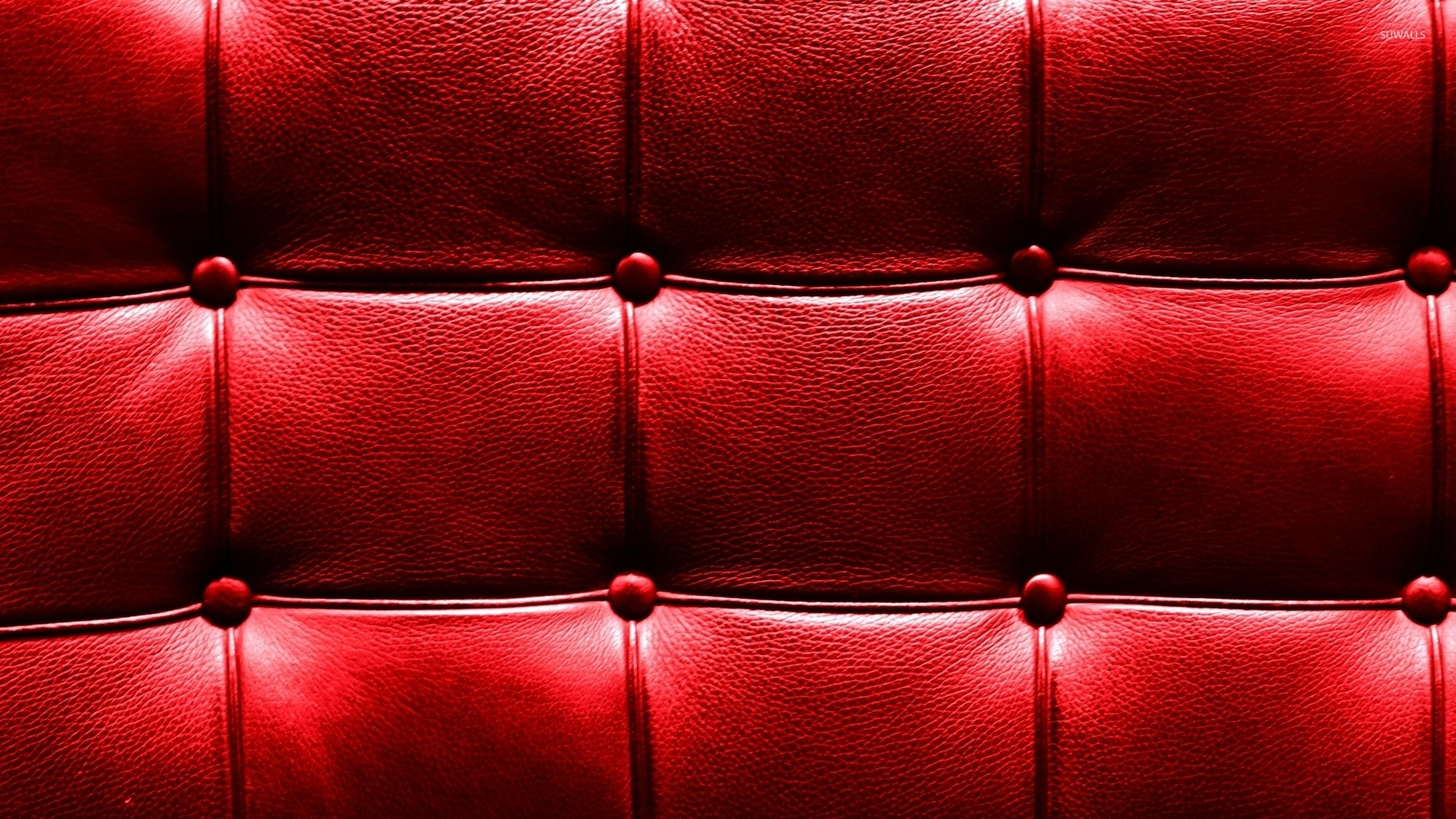 Red leather pattern wallpaper