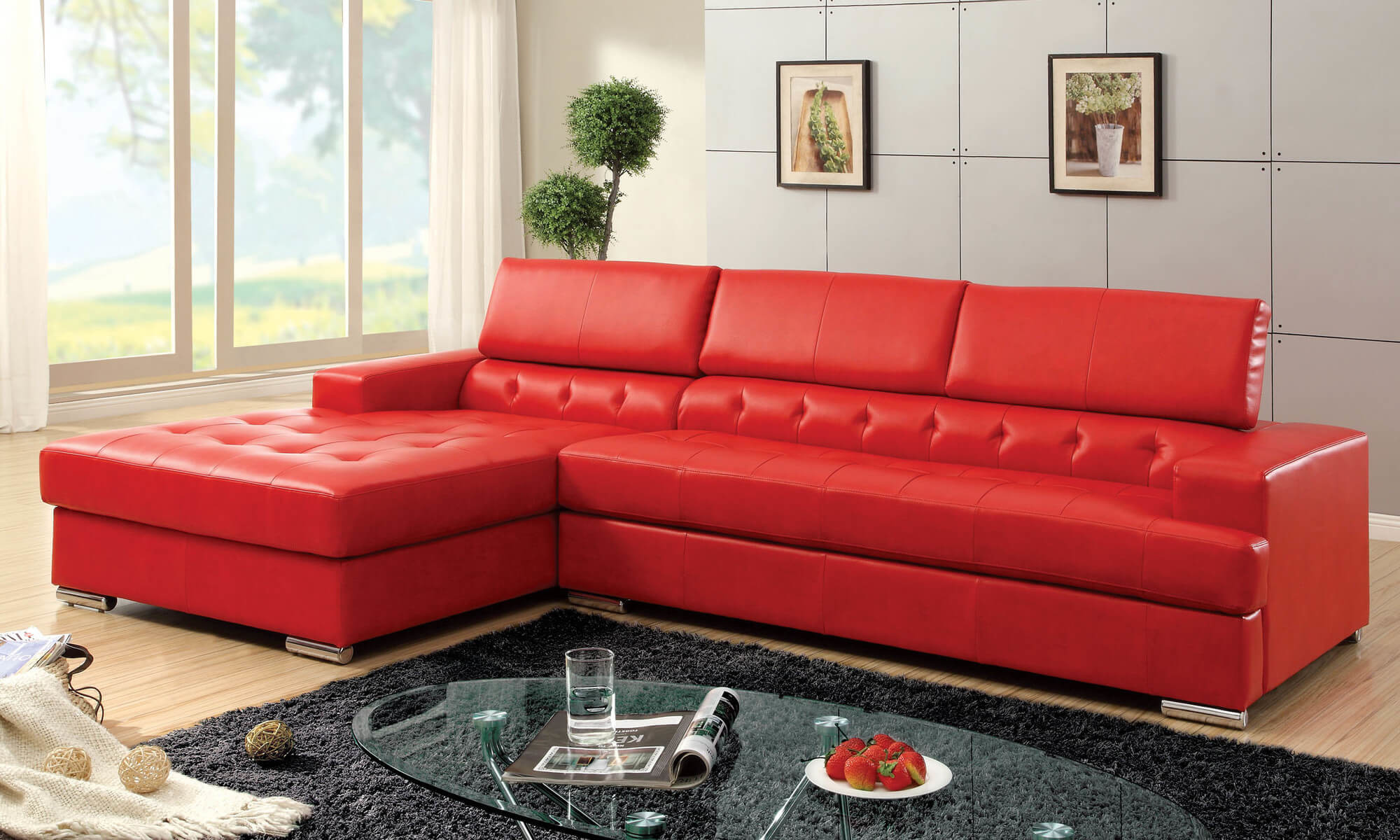Modern Red Leather Sofa 30 with Modern Red Leather Sofa