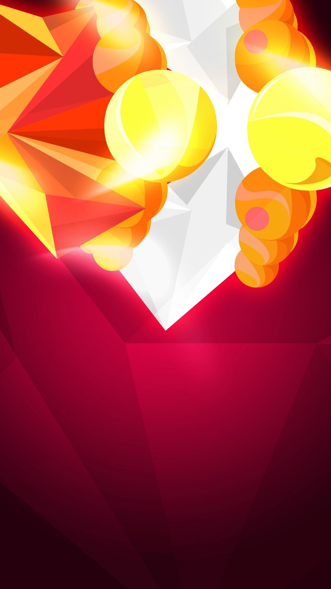 Abstract Orange Crystals Android Wallpaper …