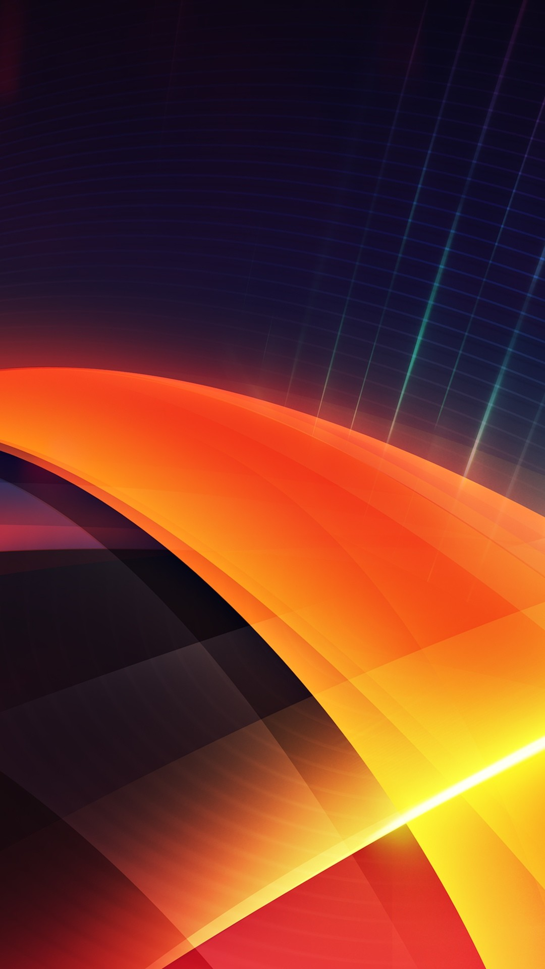 Abstract Orange Layers Android Wallpaper …