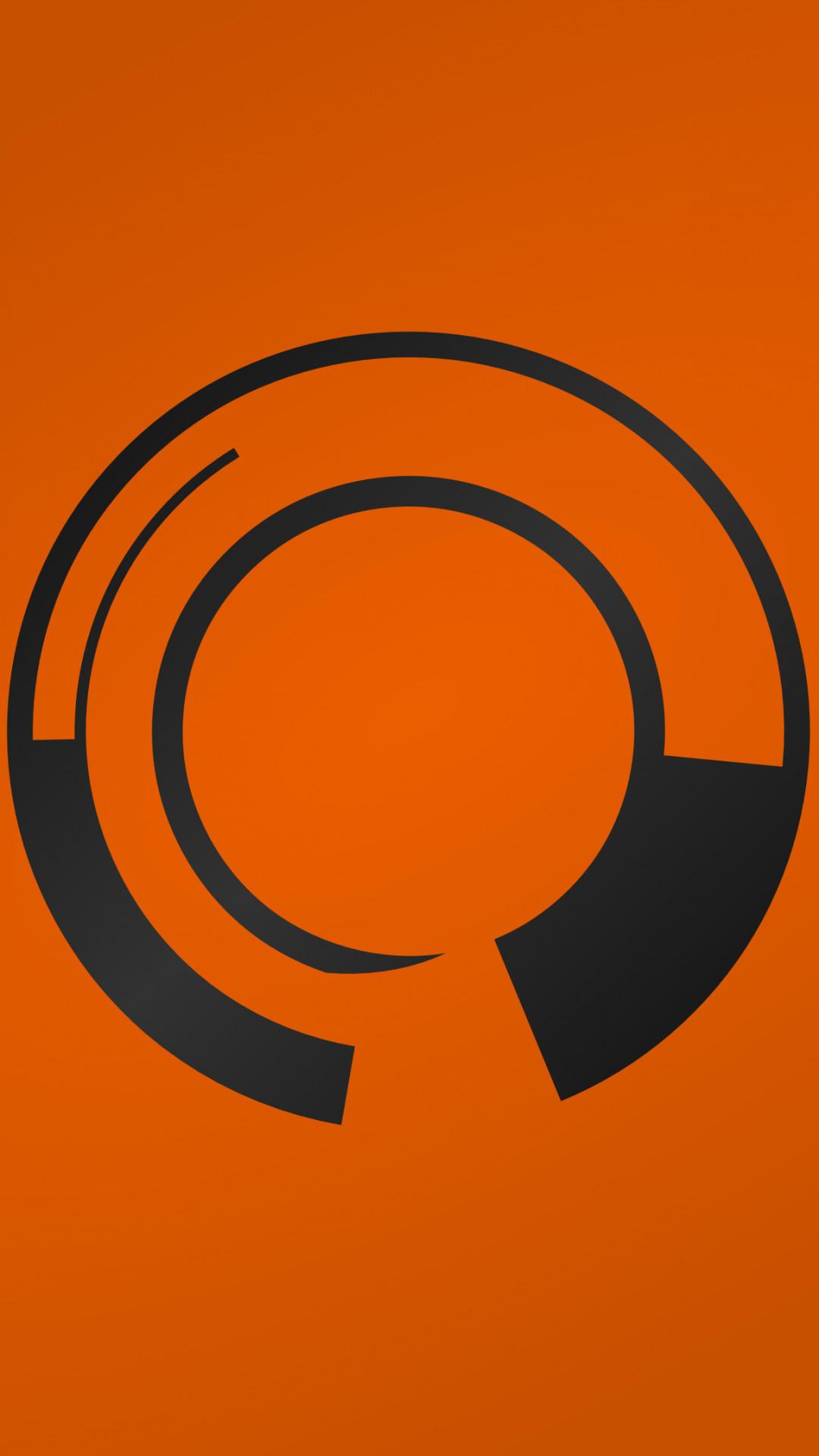 Abstract Orange Shapes. Wallpaper 424789