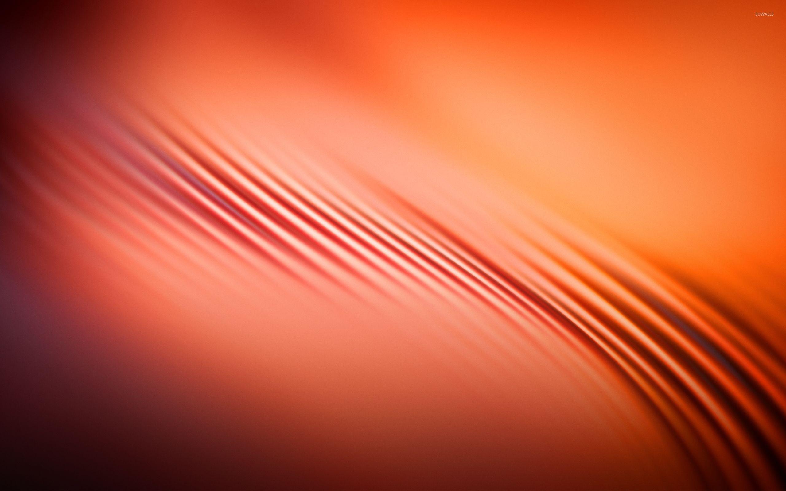 Orange waves [2] wallpaper