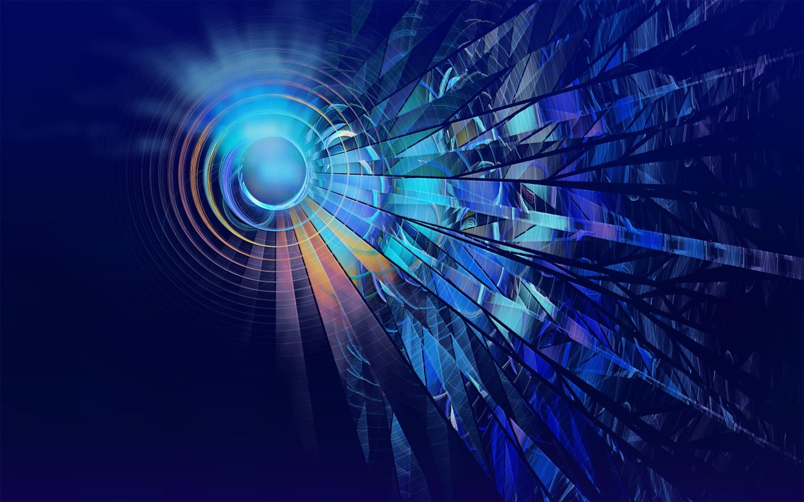 Blue Circle Abstract Wallpaper for desktop and mobile in high resolution  download. We have best