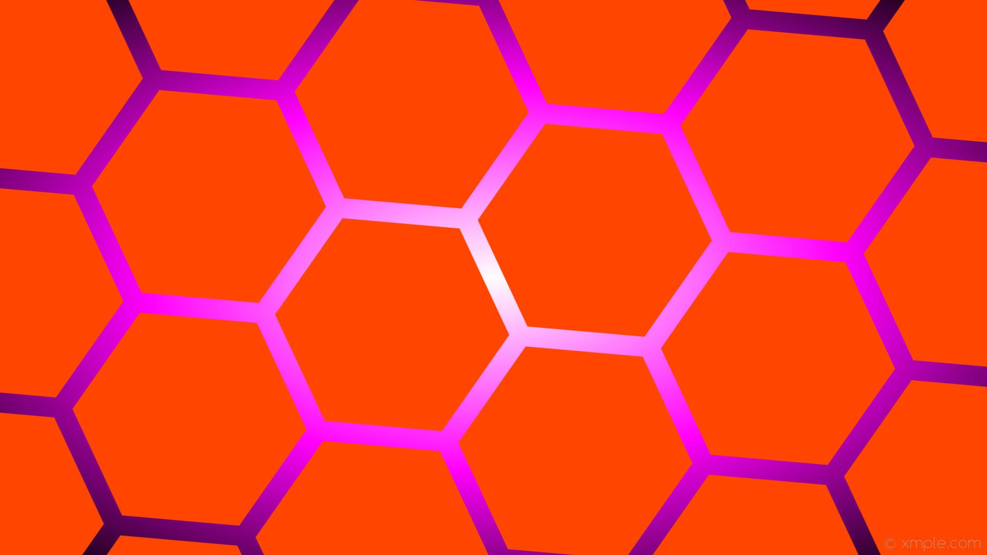 wallpaper glow gradient black purple white orange hexagon orangered magenta  #ff4500 #ffffff #ff00ff