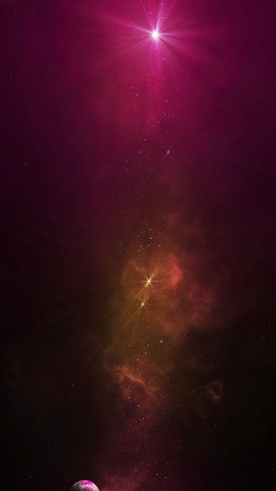 Orange Galaxy Dust Purple Star Android Wallpaper …