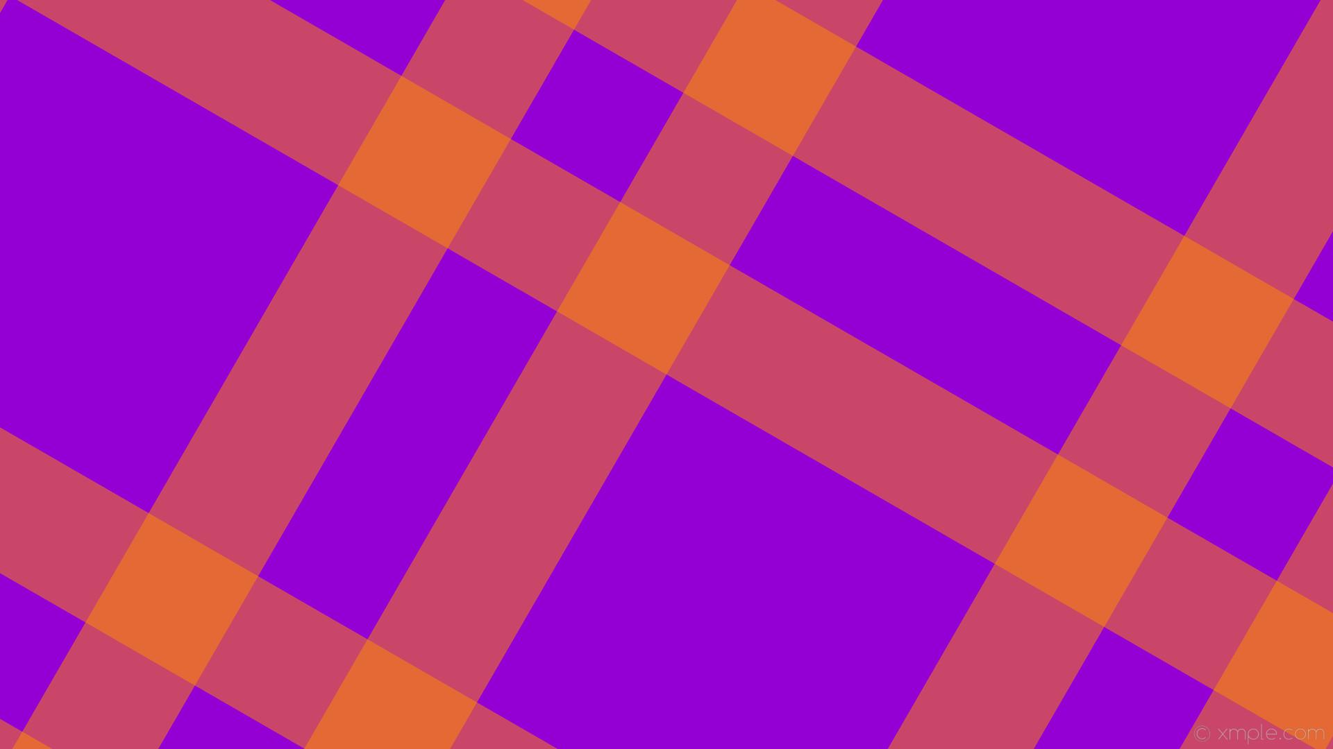 wallpaper dual orange striped gingham purple dark violet dark orange  #9400d3 #ff8c00 150°