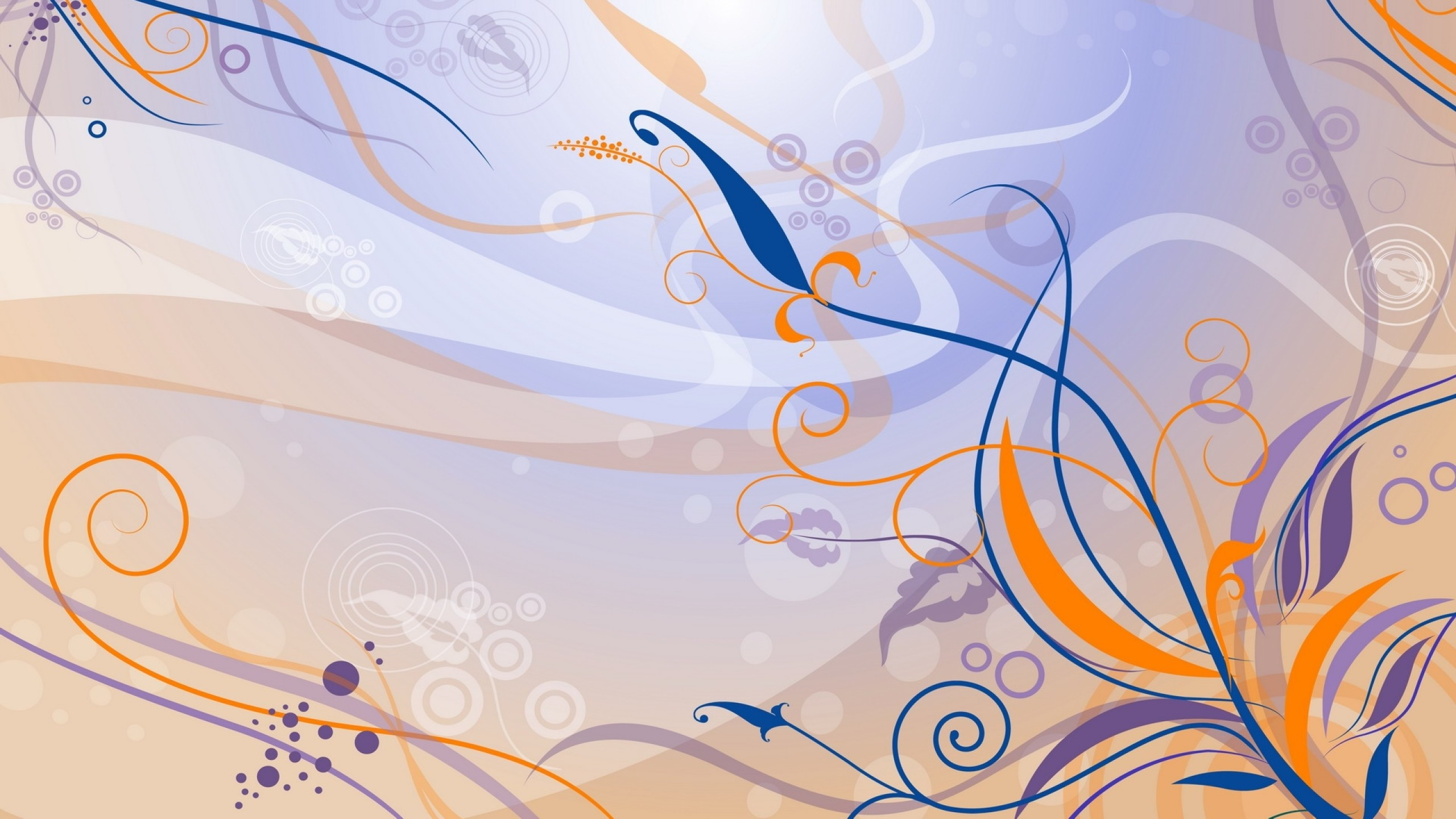 Wallpaper purple, orange, blue, pattern, color