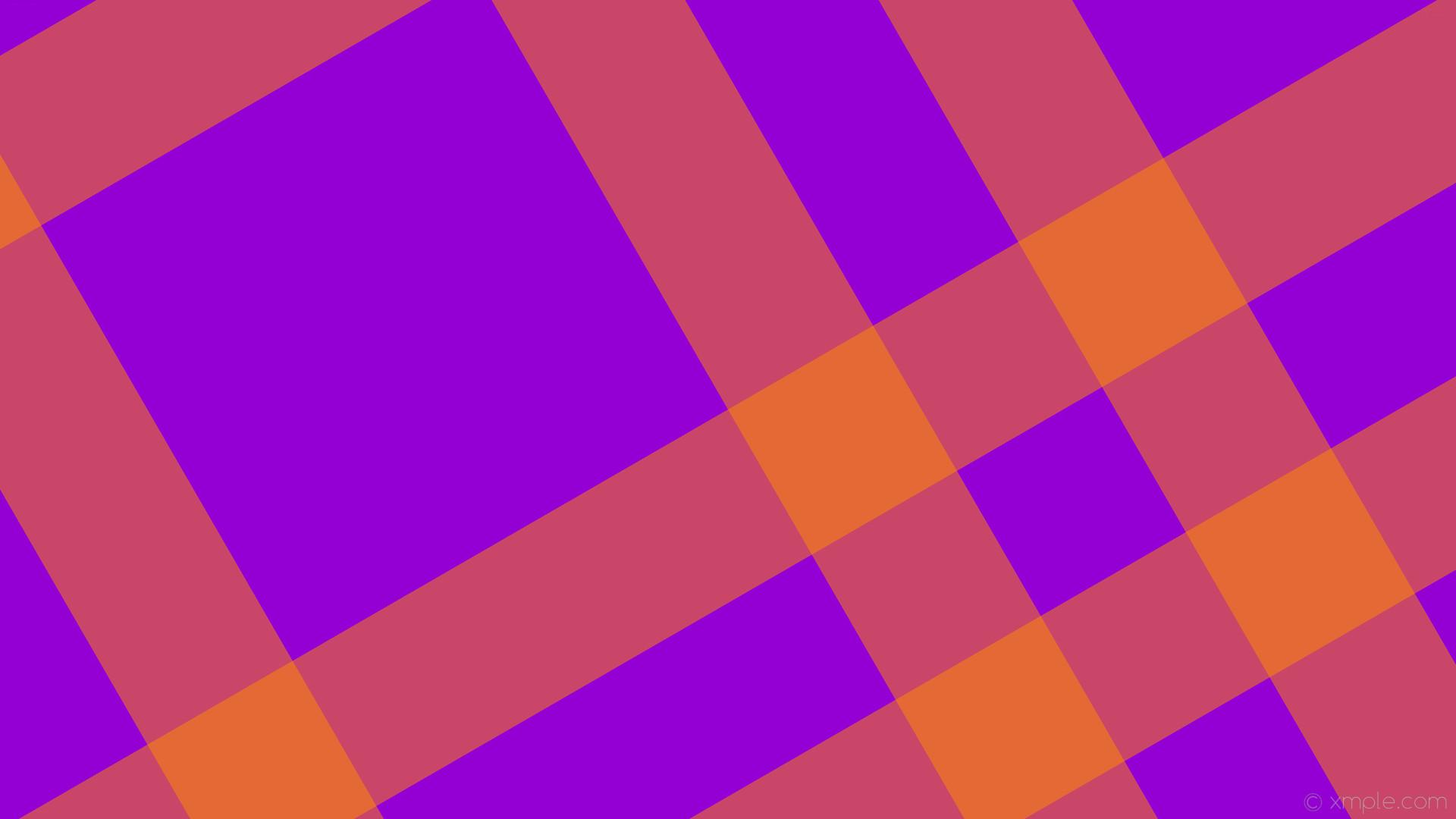 wallpaper dual purple orange gingham striped dark violet dark orange  #9400d3 #ff8c00 30°