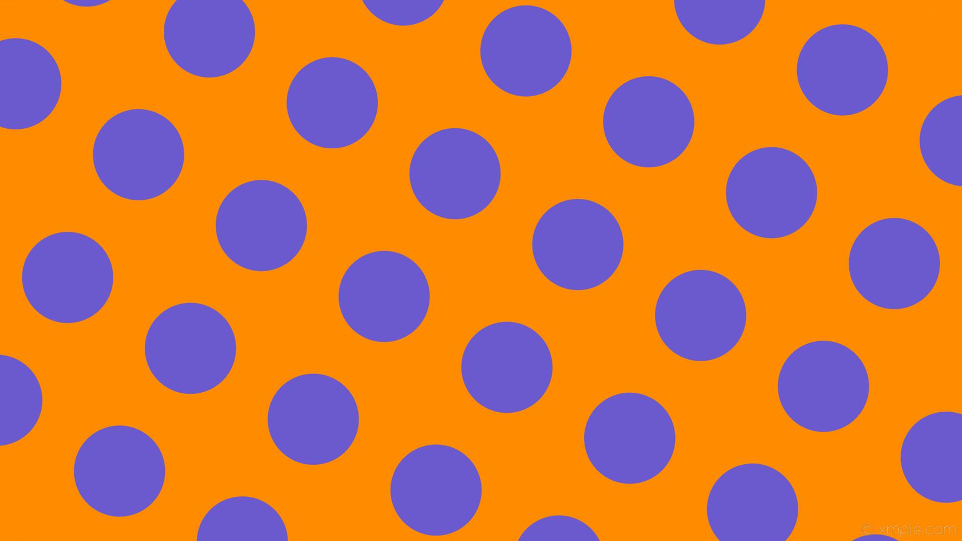 wallpaper purple dots spots orange polka dark orange slate blue #ff8c00  #6a5acd 330°