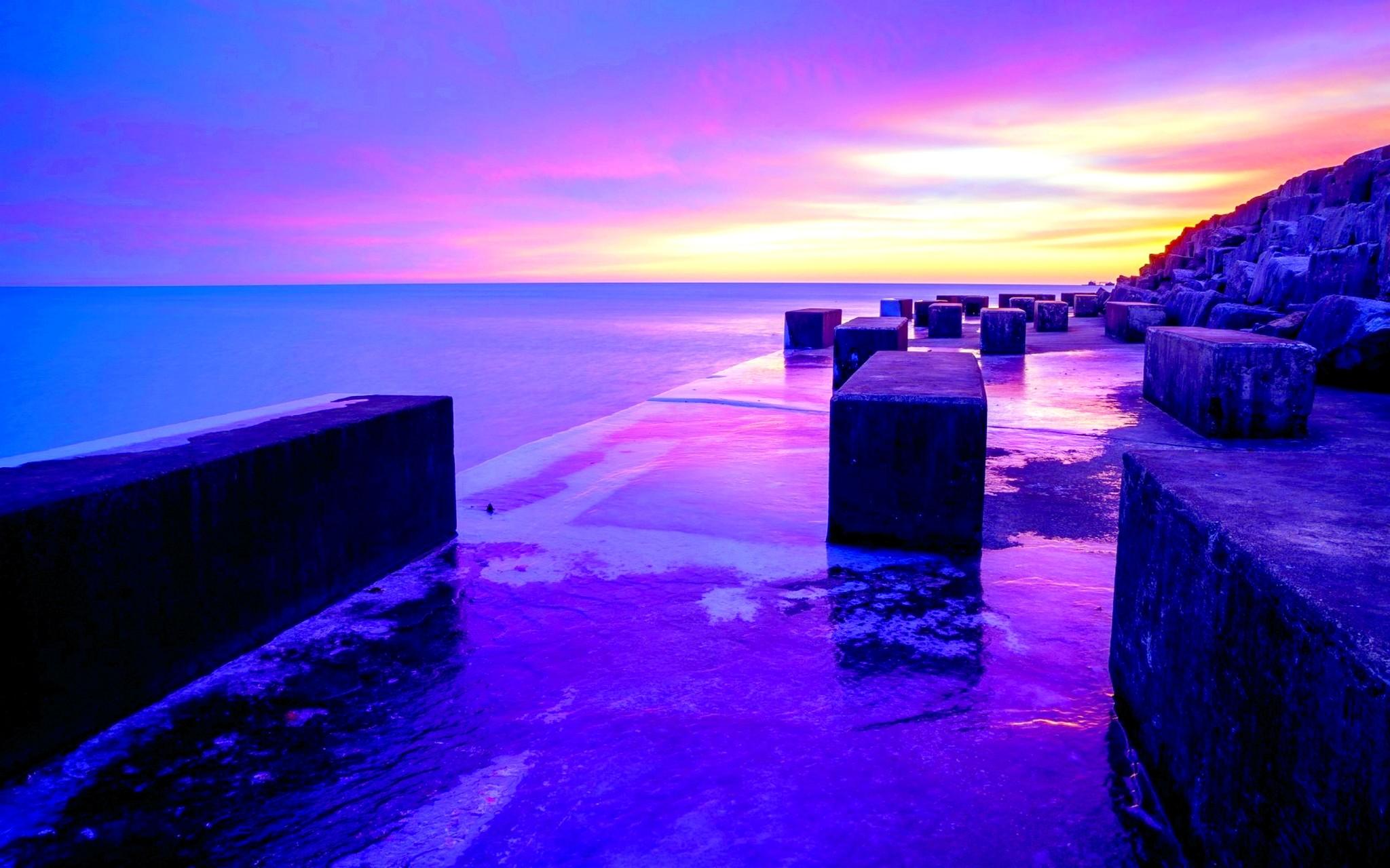 Purple Sunset Wallpaper #6897862