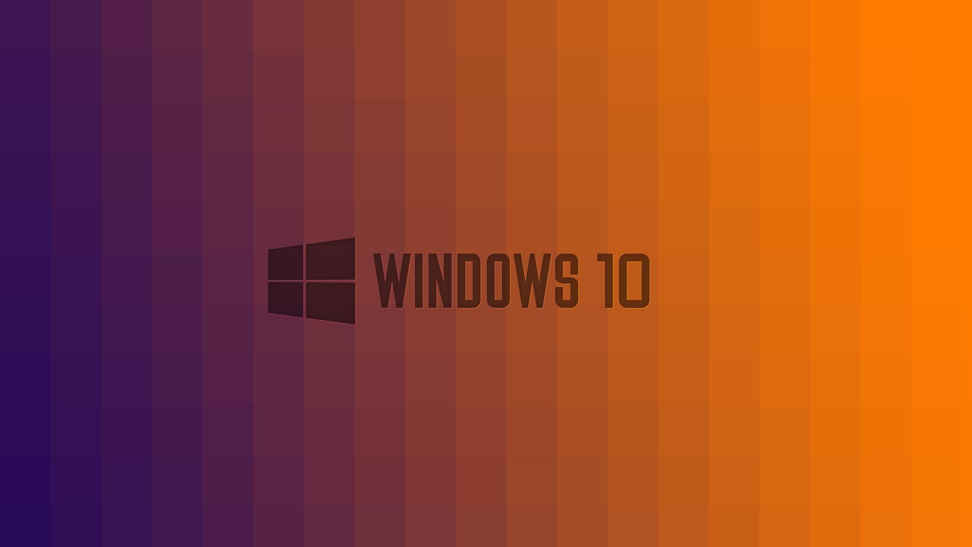 Windows 10 Wallpaper 1080p Full HD Purple To Orange Fade