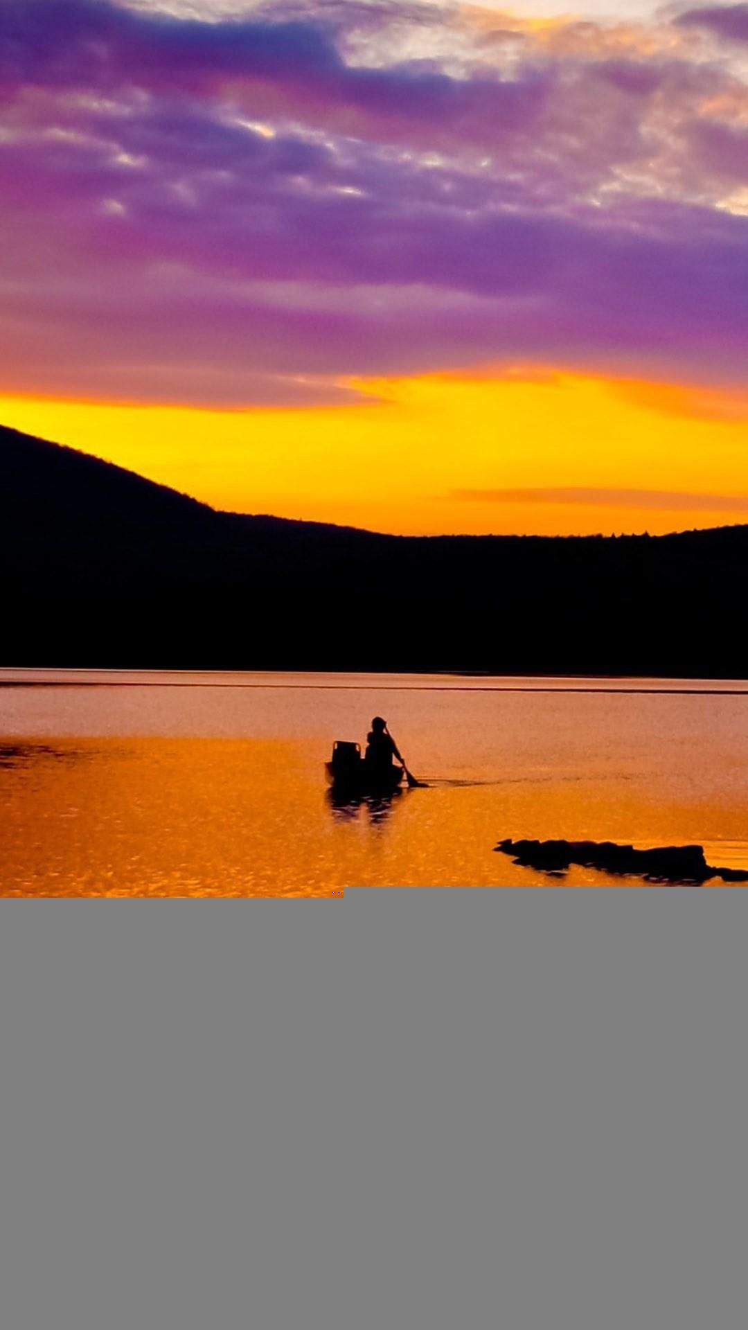 Nature Fantasy Purple Sunset iPhone 8 wallpaper