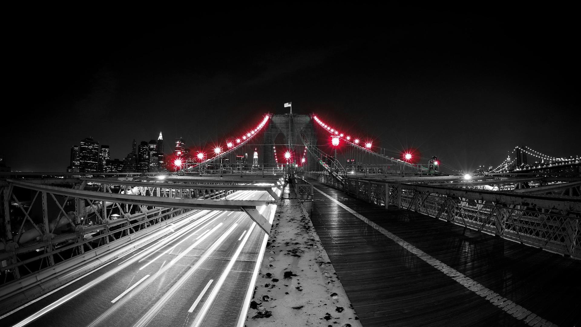 Red Black and White | Black Red Light Bridge White Up Net Wallpaper with  .