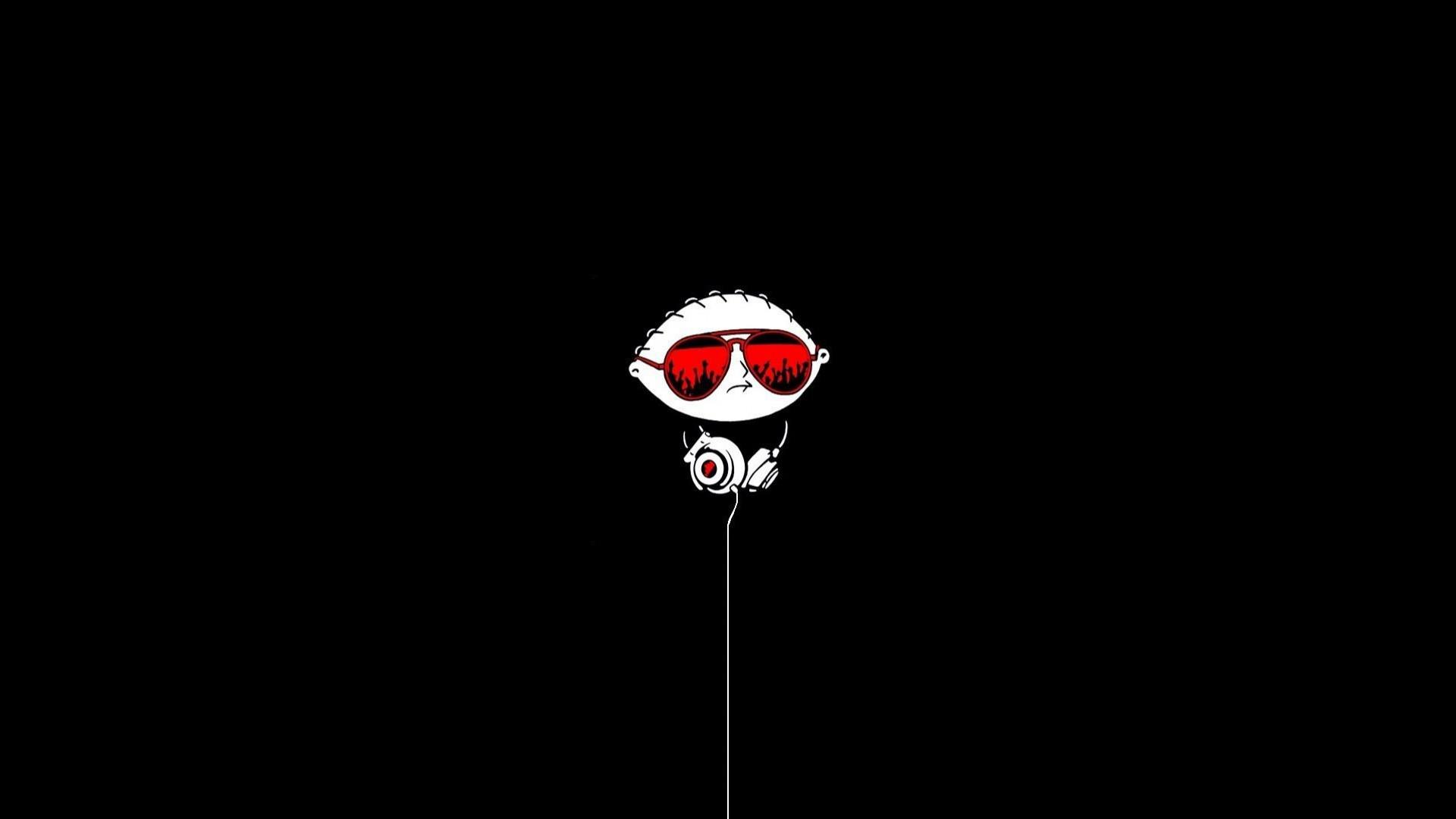 cartoon-black-white-boy-red-sunglasses-headphone-1920×1080.