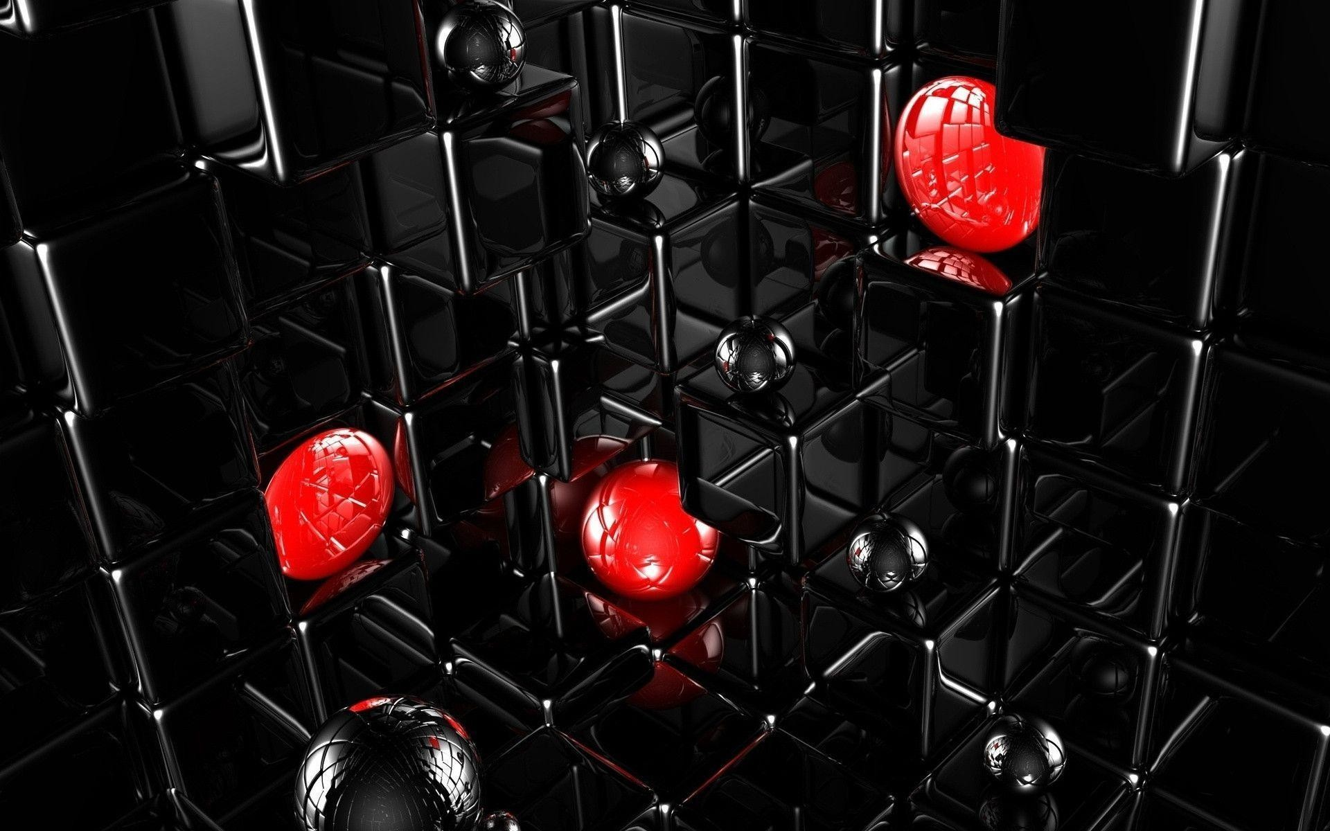 Abstract Art Black and White Red Wallpaper HD Background .