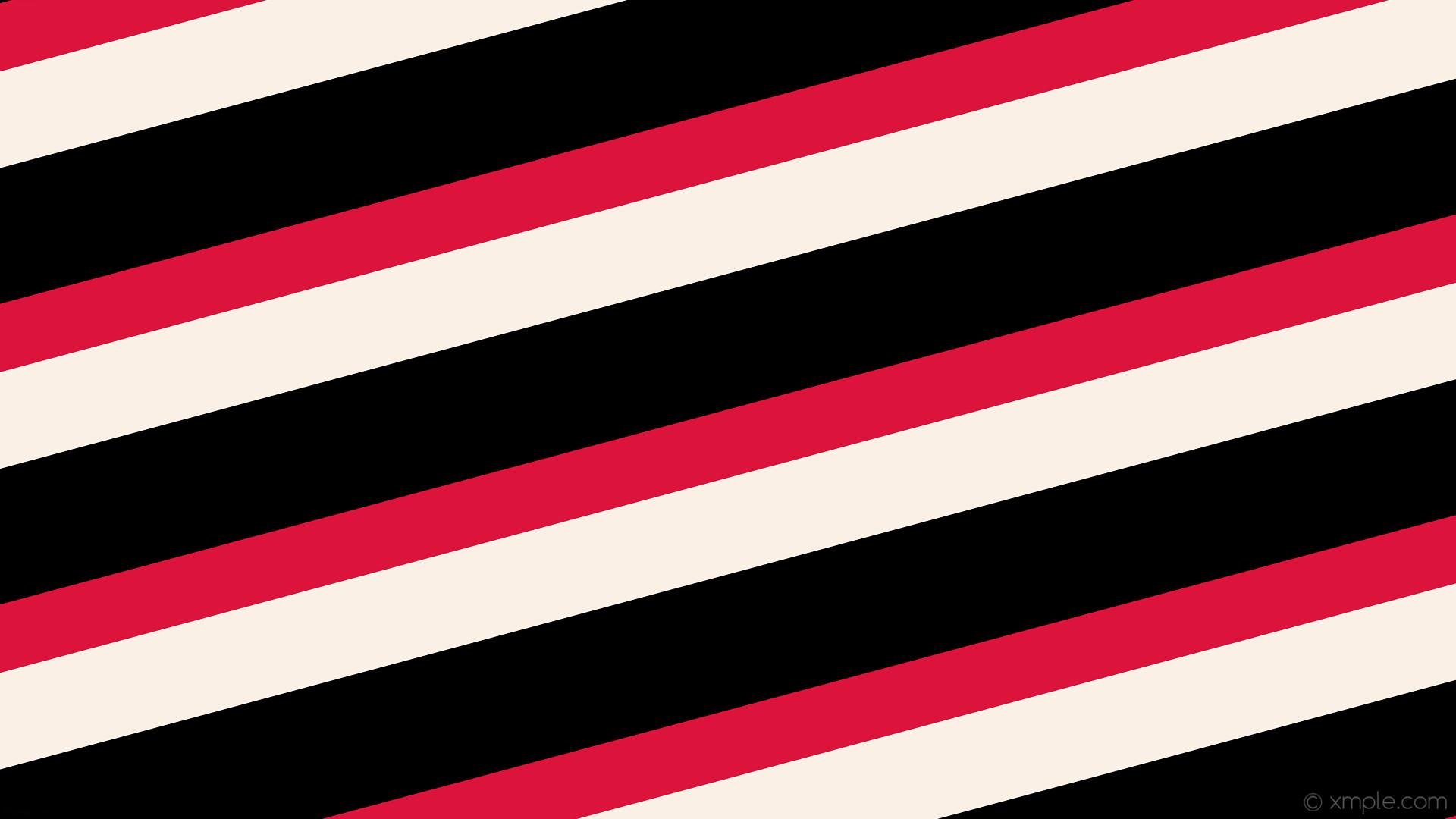 wallpaper streaks lines red black white stripes crimson linen #dc143c  #faf0e6 #000000 diagonal