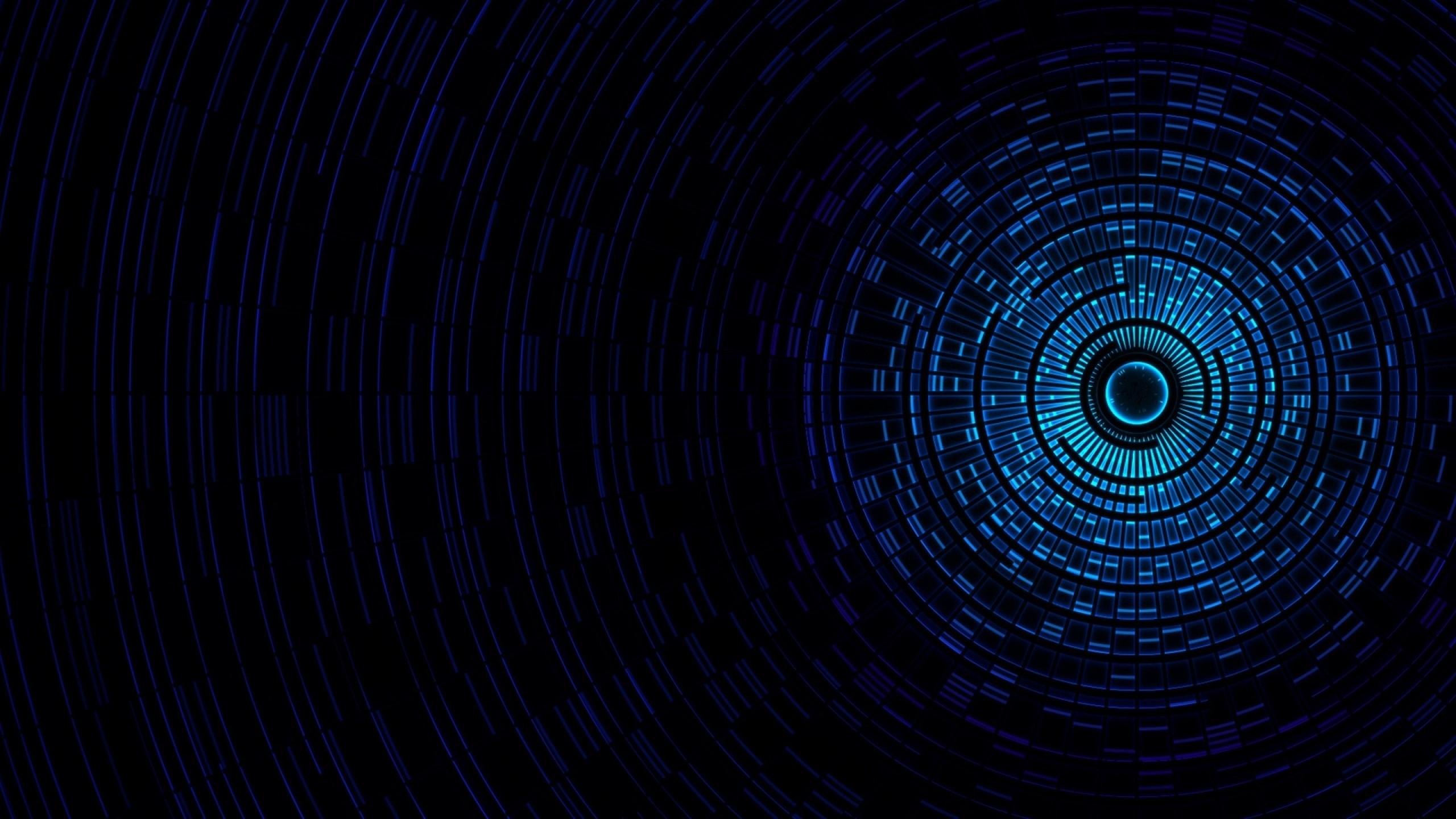 Wallpaper abstraction, passage, light, black, blue