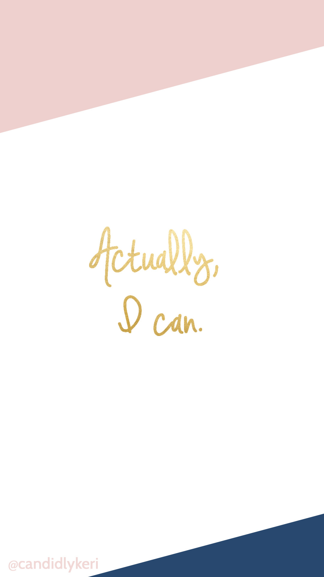 Actually I can, blush pink navy gold foil background wallpaper you can  download for free