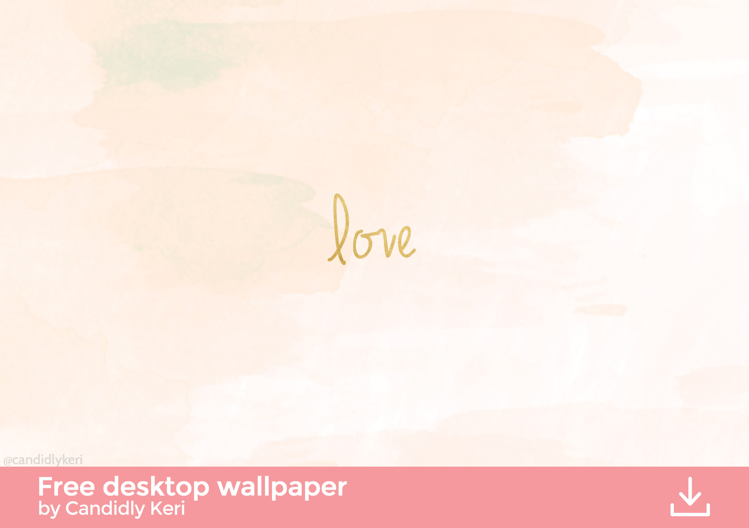 Love gold foil pink watercolor wallpaper you can download for free on the  blog! For