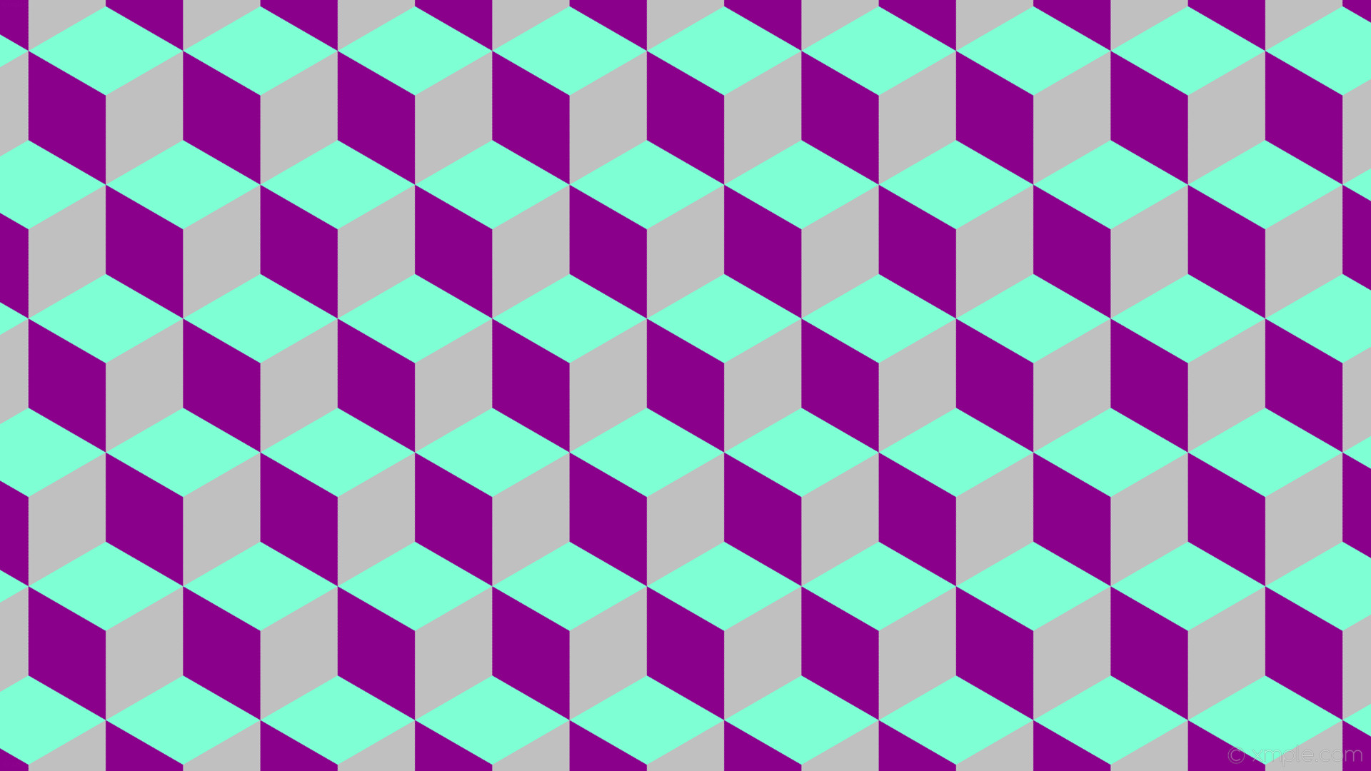 wallpaper purple grey 3d cubes blue dark magenta silver aquamarine #8b008b  #c0c0c0 #7fffd4