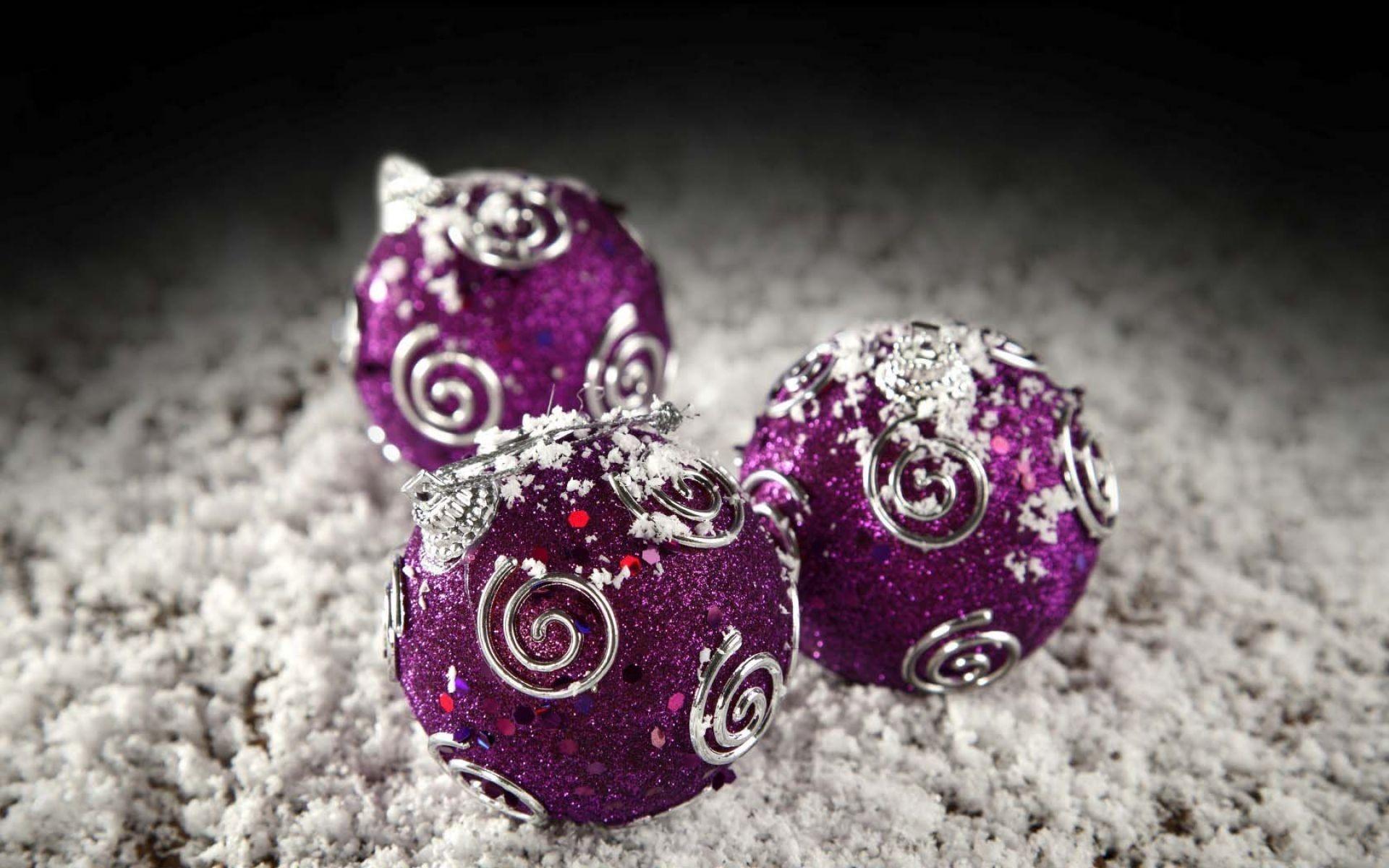 Purple And Silver Christmas Balls Wallpaper   HD Christmas Wallpaper Free  Download …