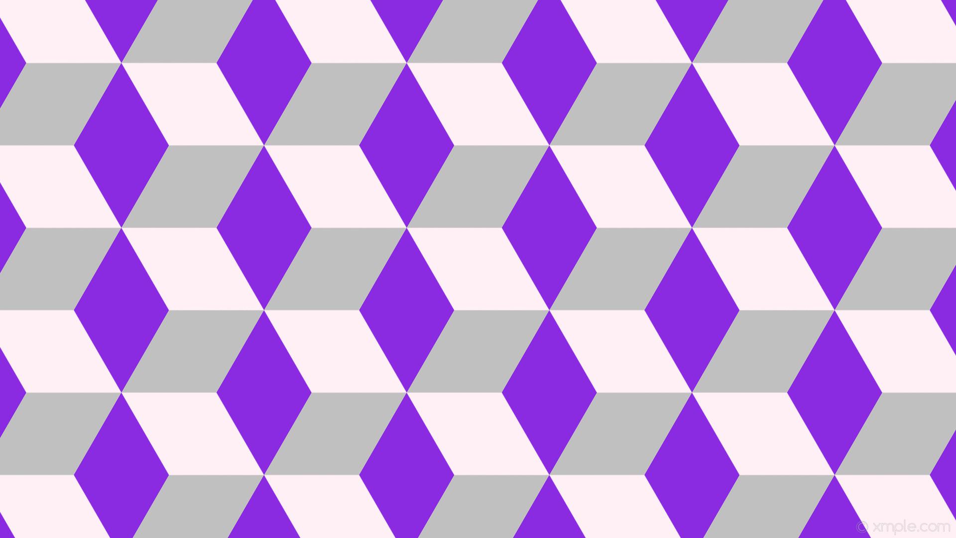 wallpaper purple 3d cubes grey white lavender blush blue violet silver  #fff0f5 #8a2be2 #