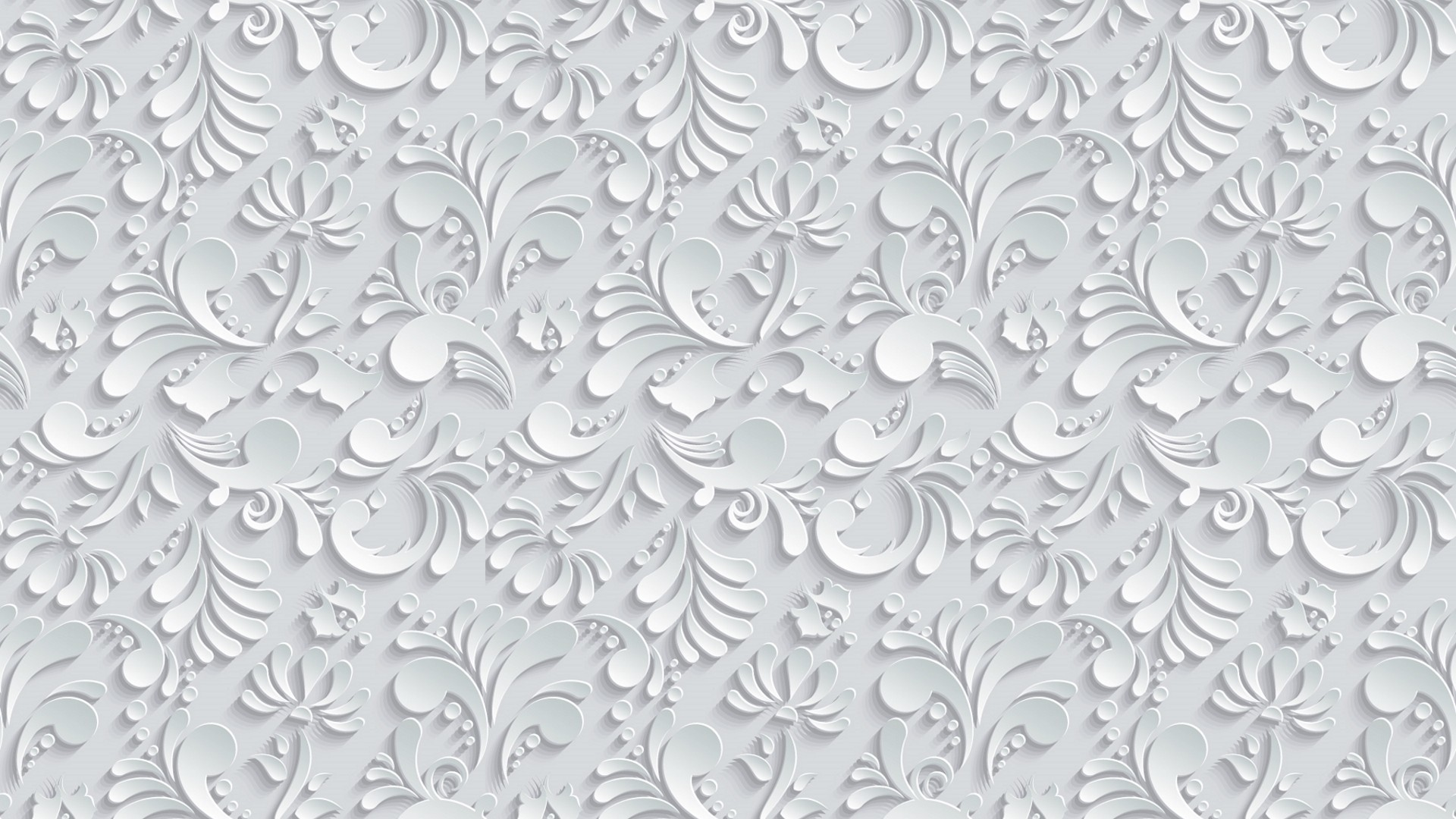 … Vector Floral 3d Seamless Pattern on grey background wallpaper 4K Ultra  HD Desktop