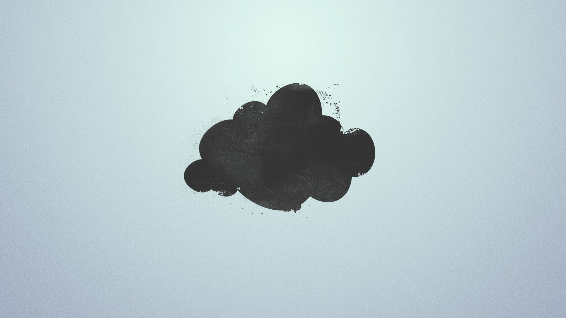 Clouds Digital Art Grey Background Grunge Minimalistic