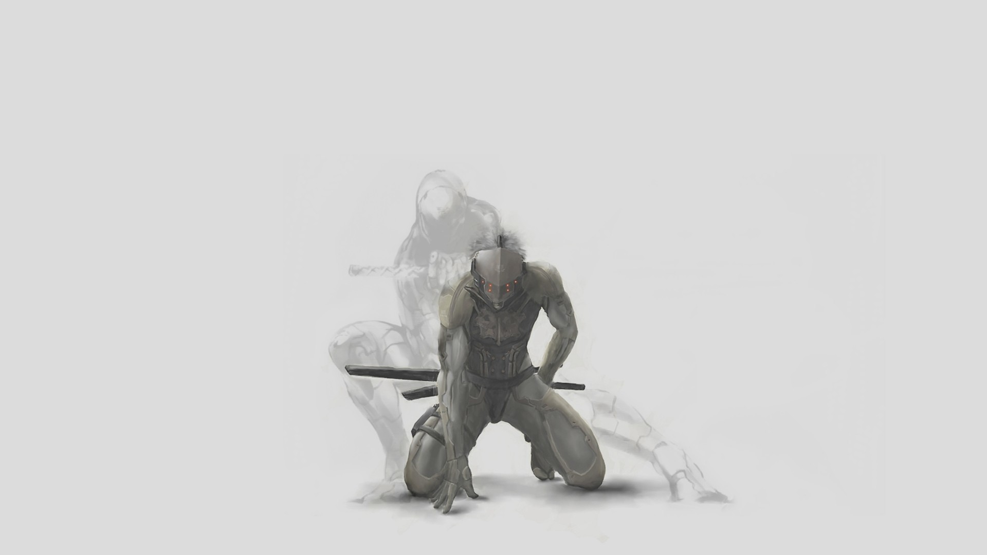 wallpaper Metal Gear Solid · shadows · Raiden · Gray Fox