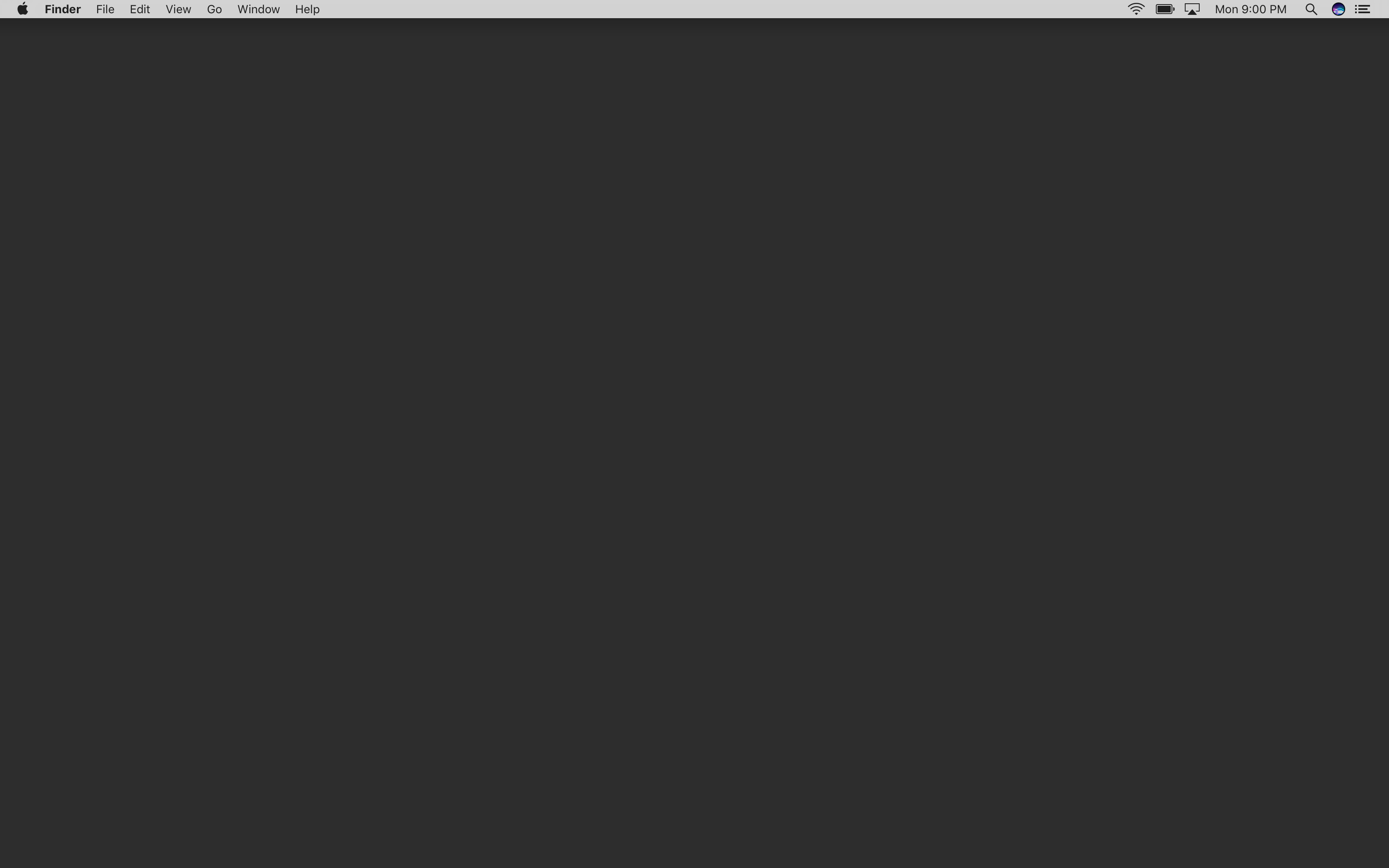 This is my macOS desktop, with a solid grey wallpaper and a hidden dock.