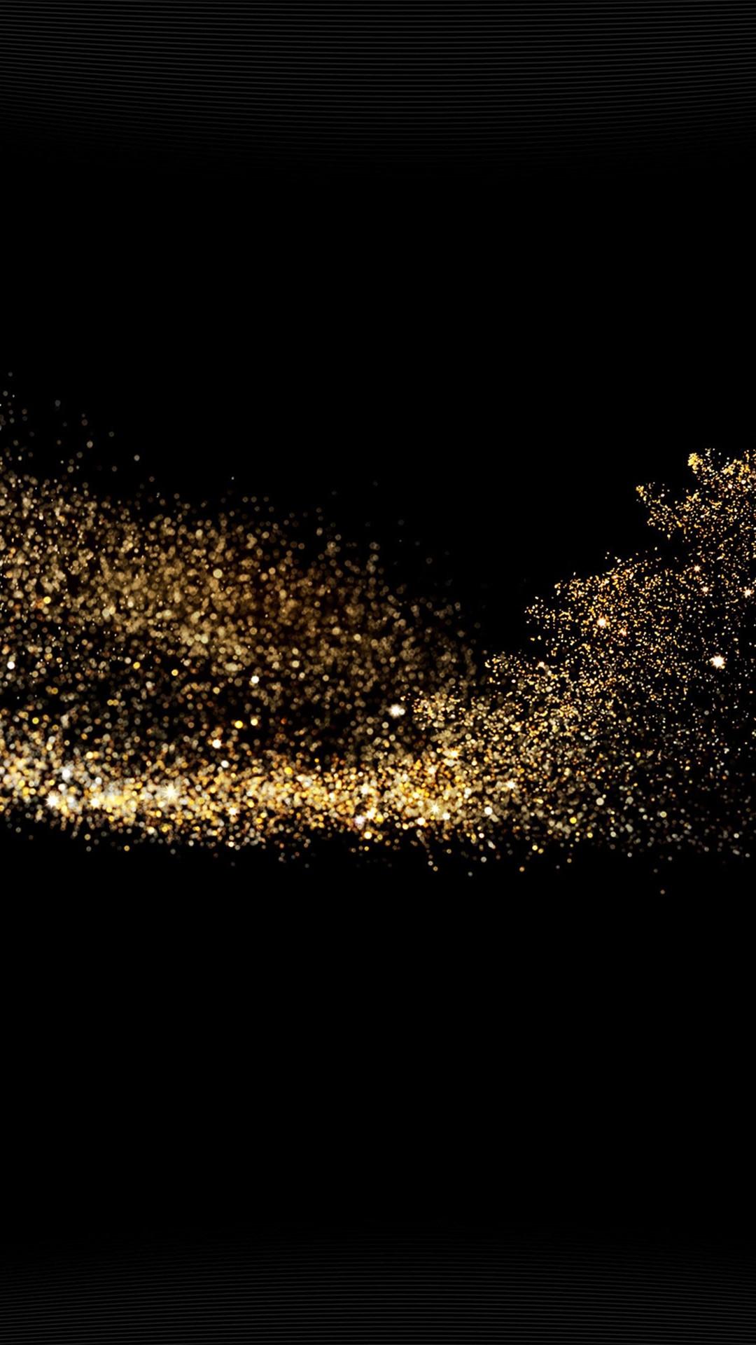 Gold Sparkle Beauty Dark Pattern #iPhone #6 #plus #wallpaper