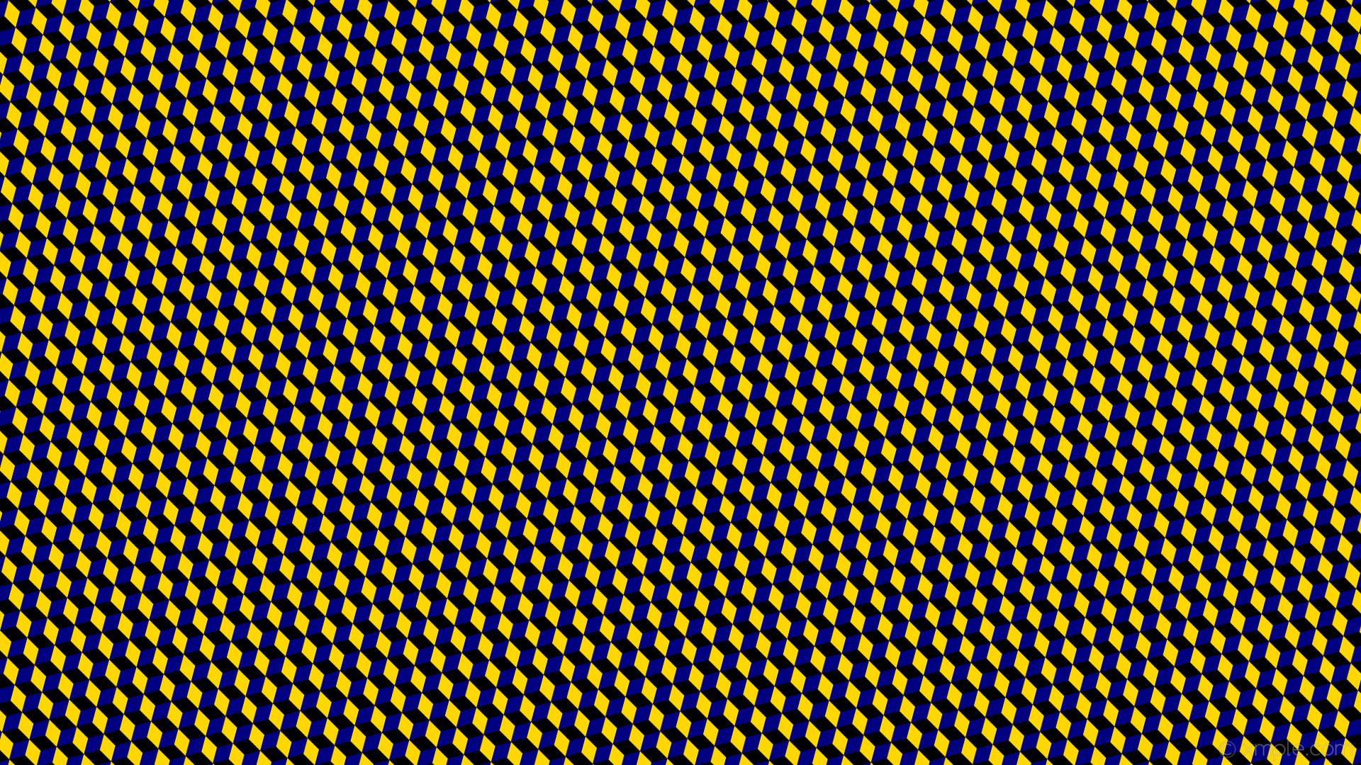 wallpaper yellow 3d cubes blue black gold navy #000000 #ffd700 #000080 165°