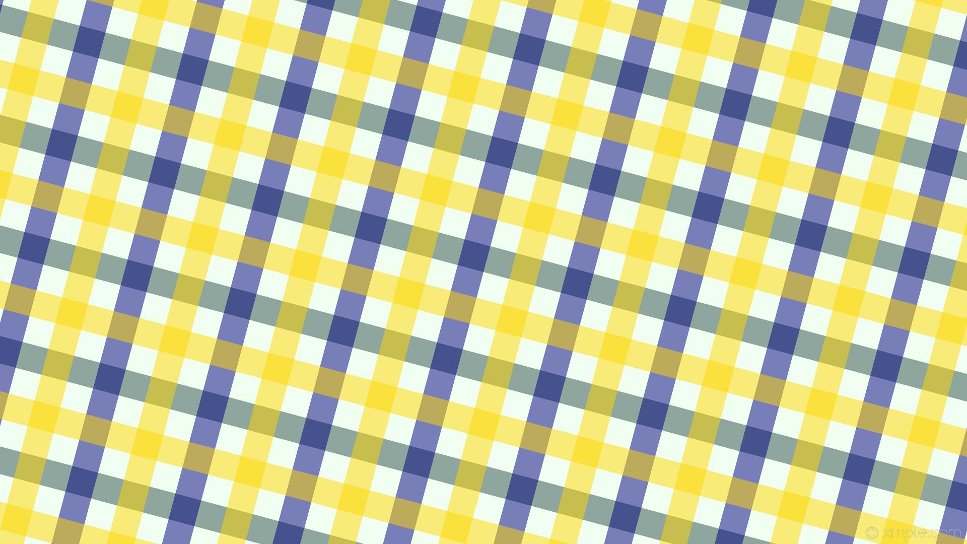 wallpaper quad striped white gingham blue yellow grey honeydew dark slate  gray navy gold #f0fff0