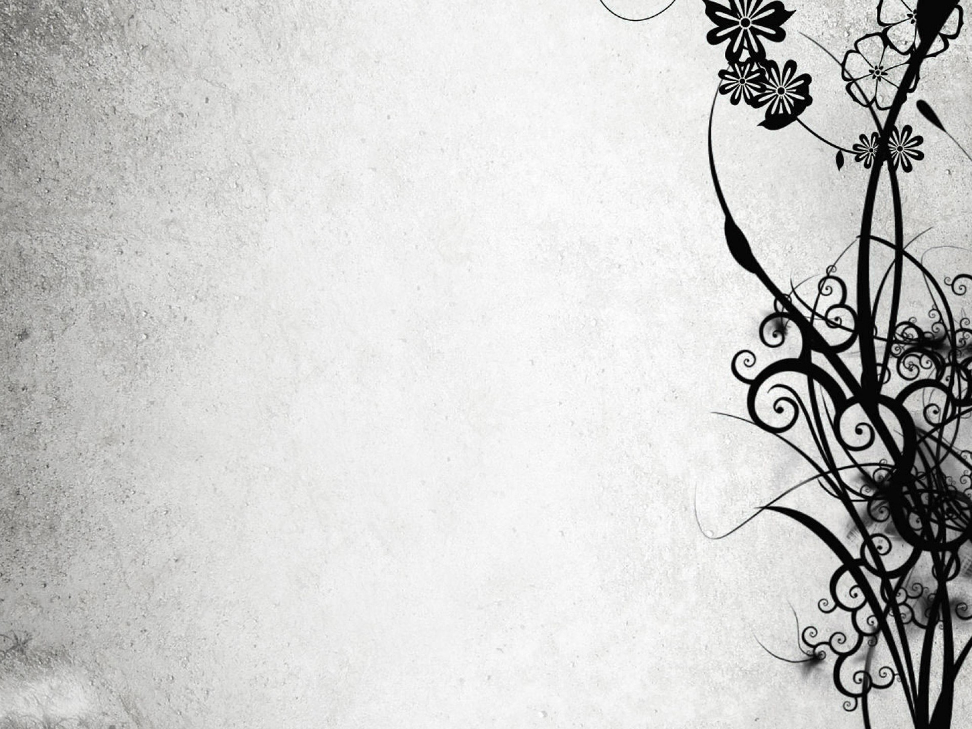 black-flower-branches-powerpoint-backgrounds