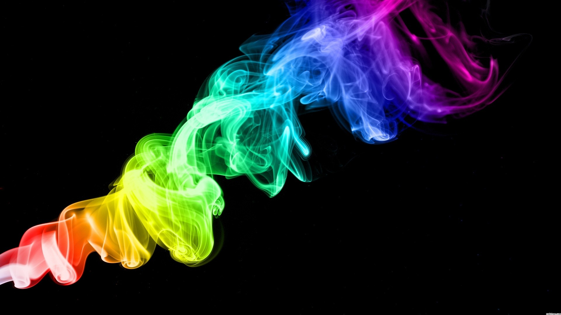 Colorful smoke trails in black background – Spectrum by colorful smoke  trails in black background abstract wallpaper