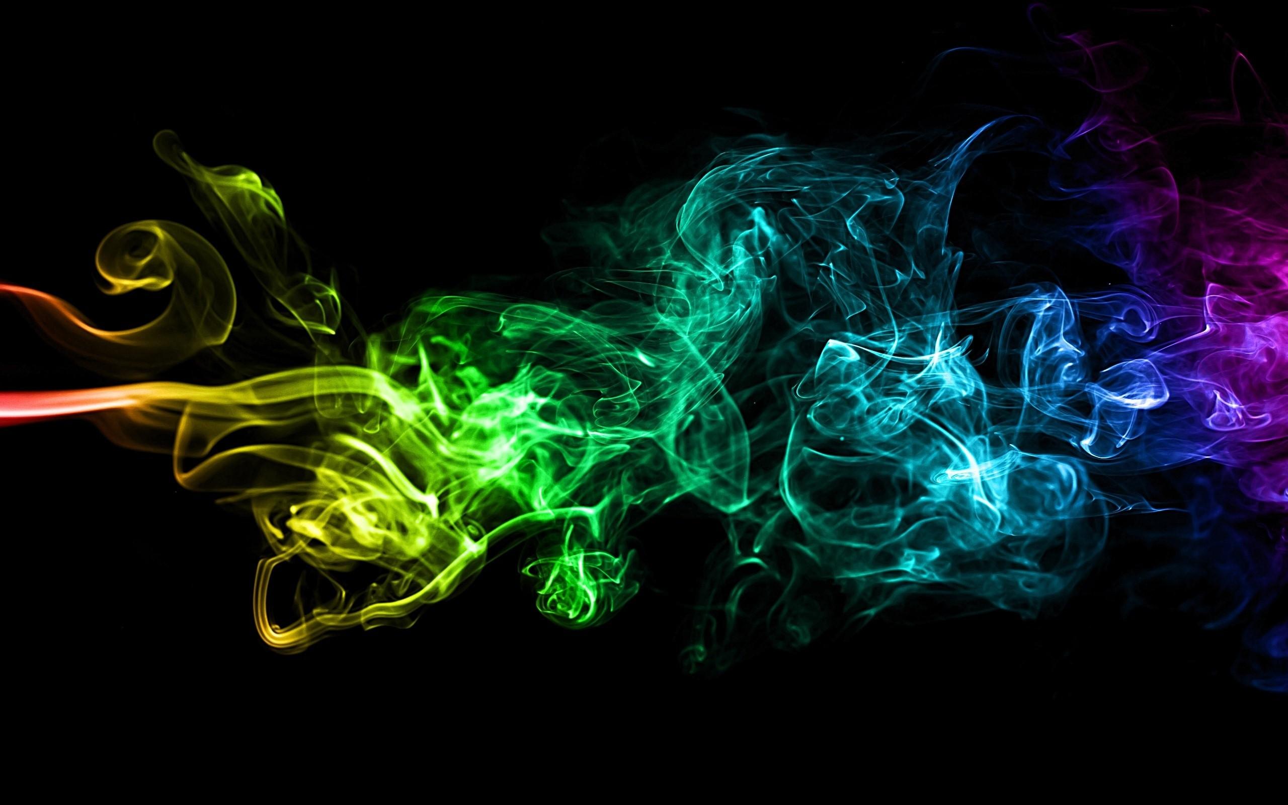 nice Abstract Colorful Smoke Art Background Image