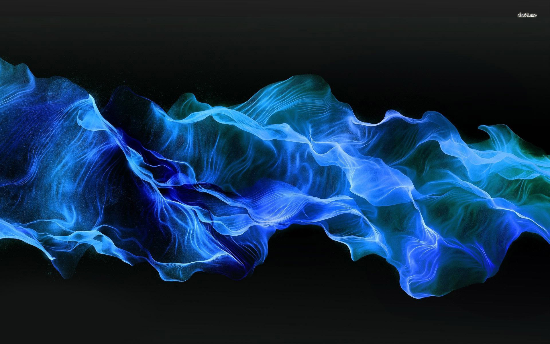 Blue Smoke Wallpaper Wallpaper