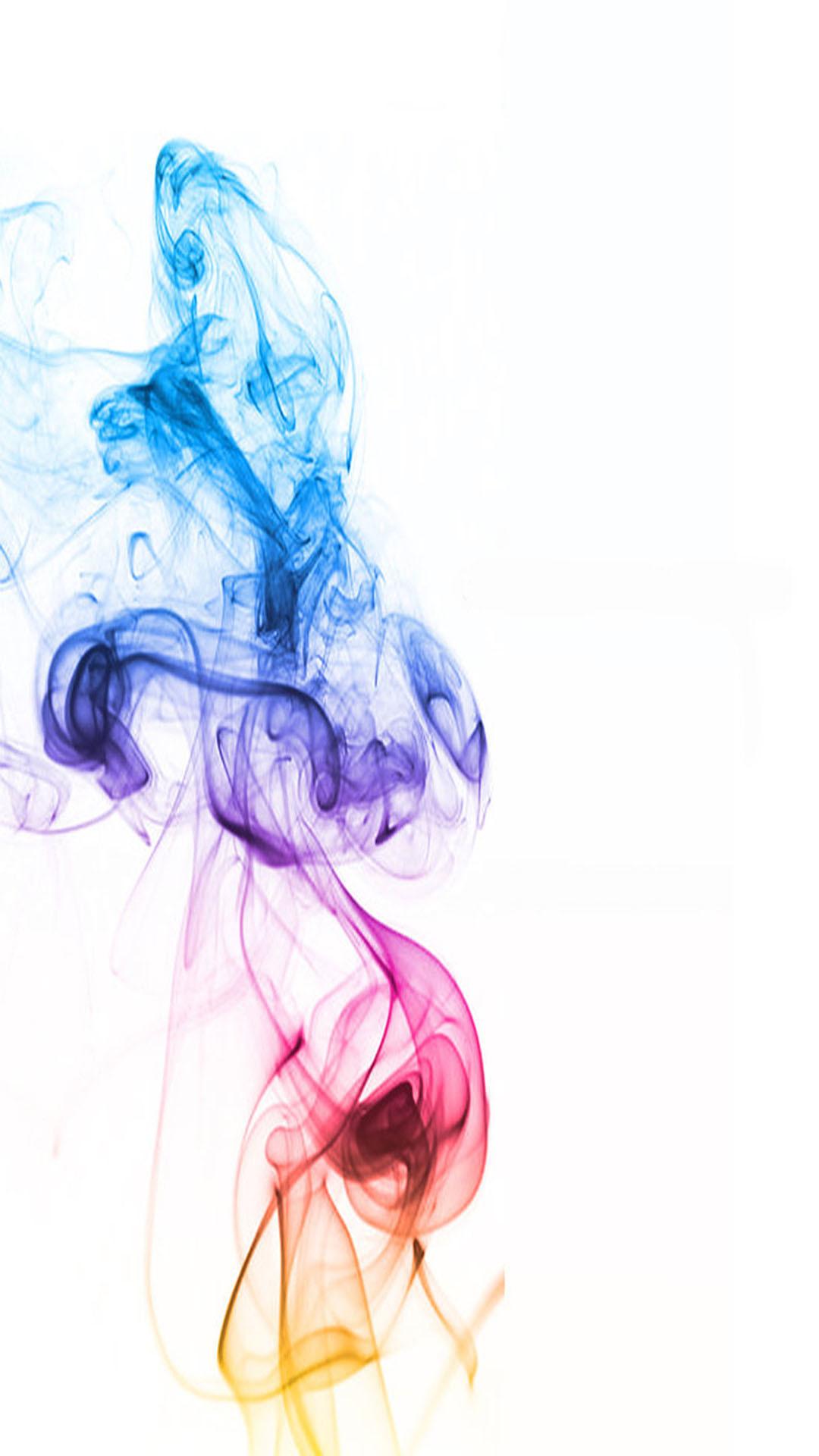 Distorted Color Smoke Wallpaper