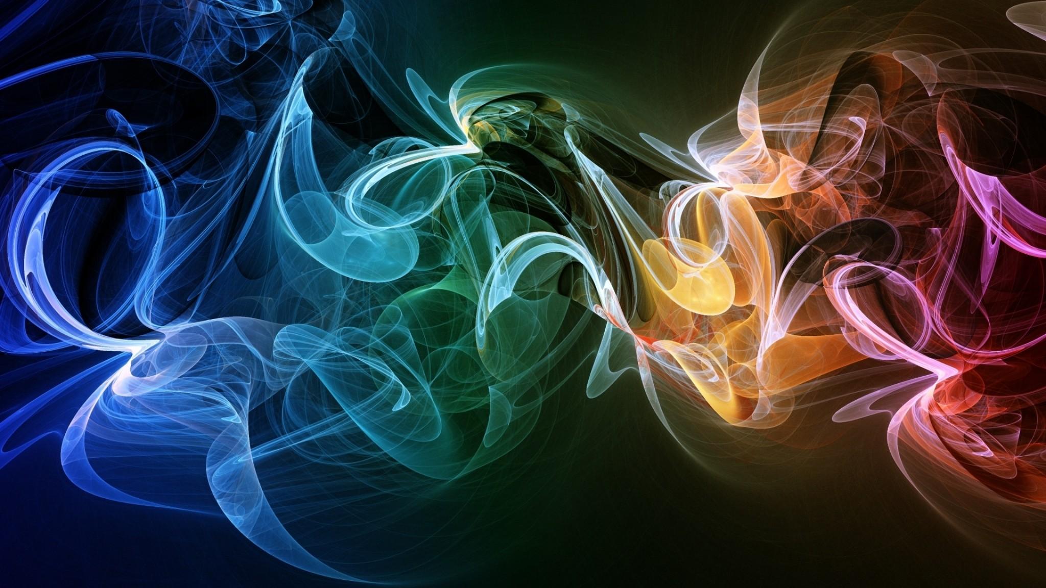 Wallpaper smoke, shape, colorful, bunch