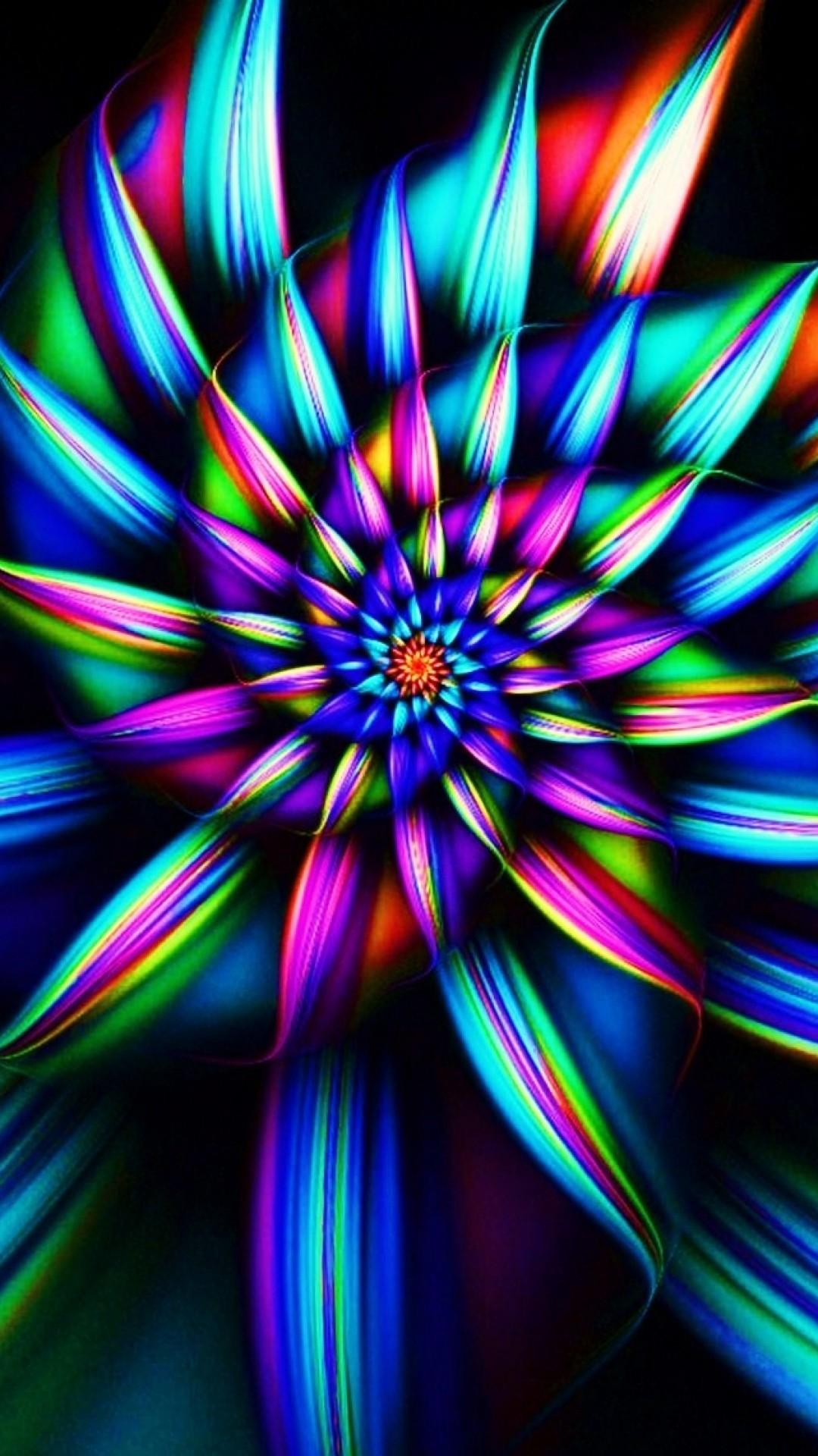 Wallpaper flower, smoke, drawing, dark, colored