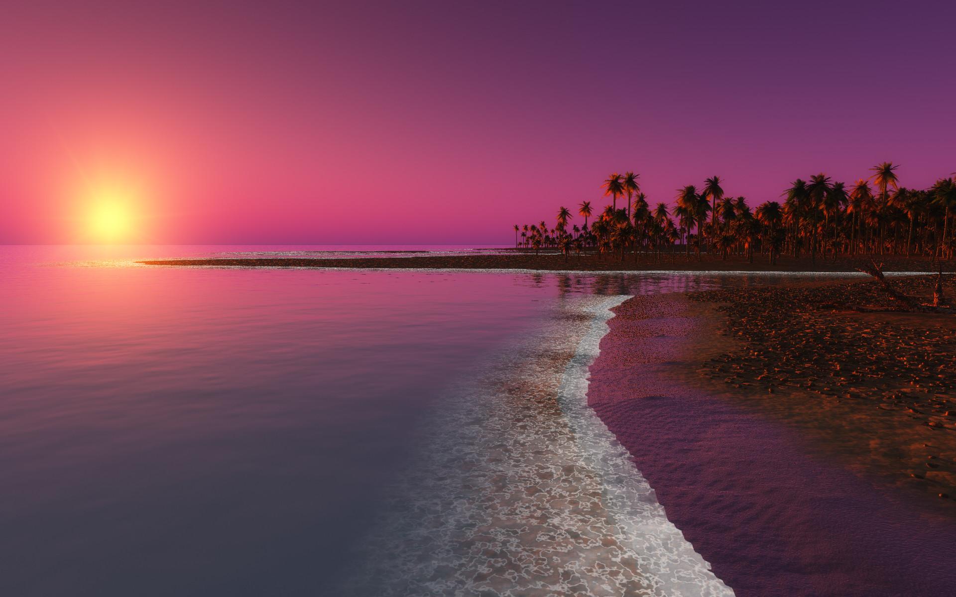 Pink Landscape Desktop Backgrounds – Wallpaper, High Definition, High .