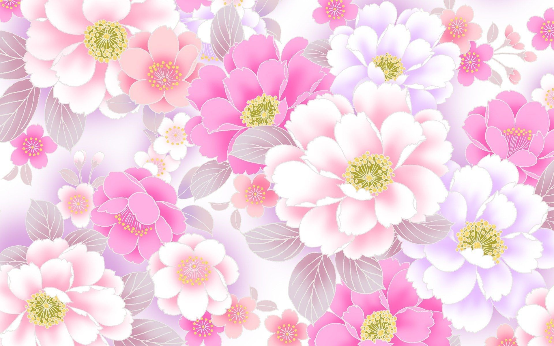 Pink Floral Wallpapers Wallpaper