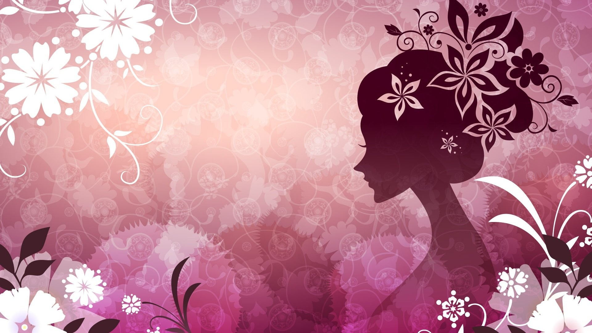 Vector Girl 476687. SHARE. TAGS: Themes Theme Desktop Woman Vector Pink  Flowers