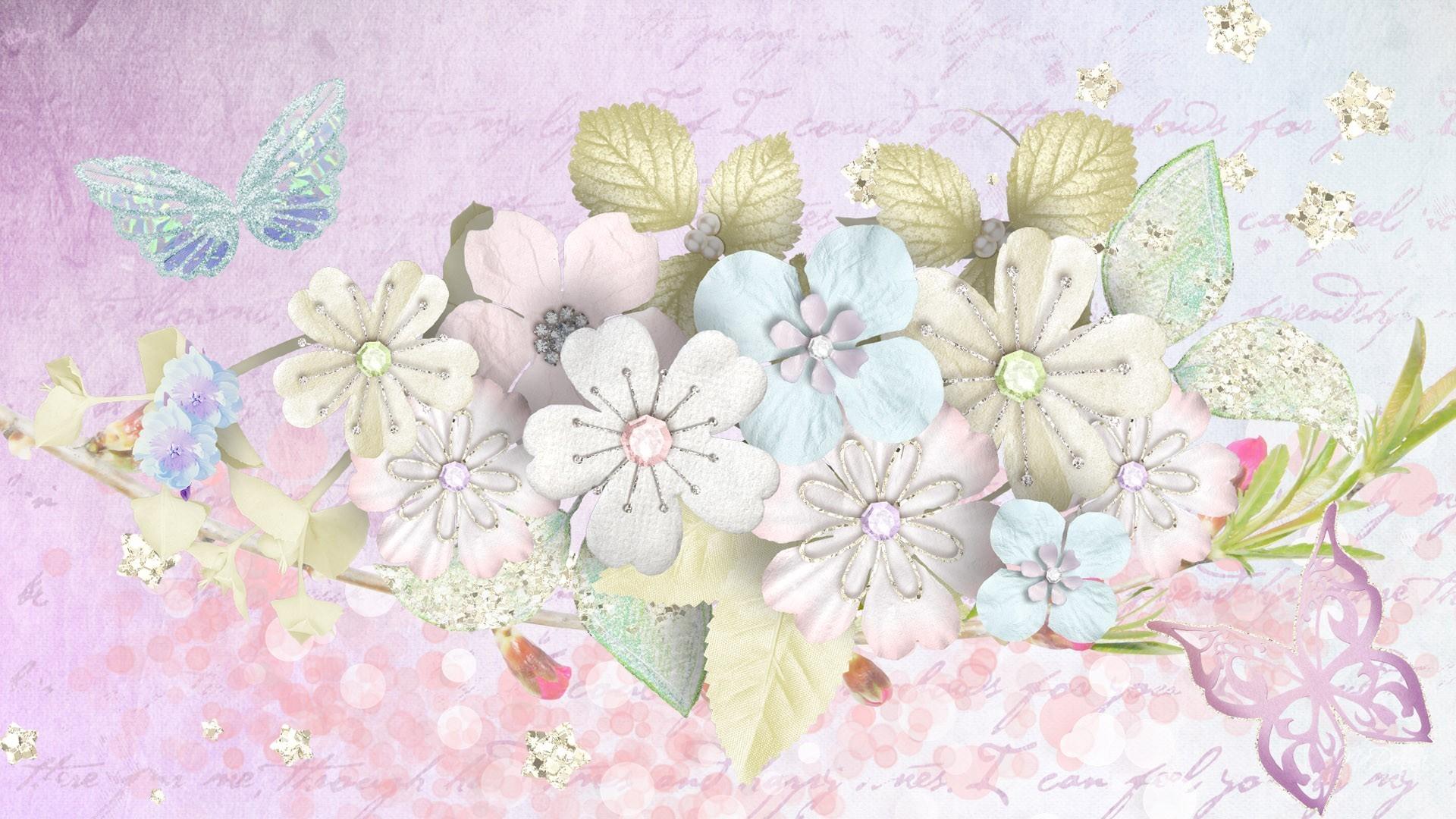 Flowers – Pink Angelique Gold Glitter Firefox Stars Pastel Writing  Butterflies Persona Paper Flowers Desktop Flower